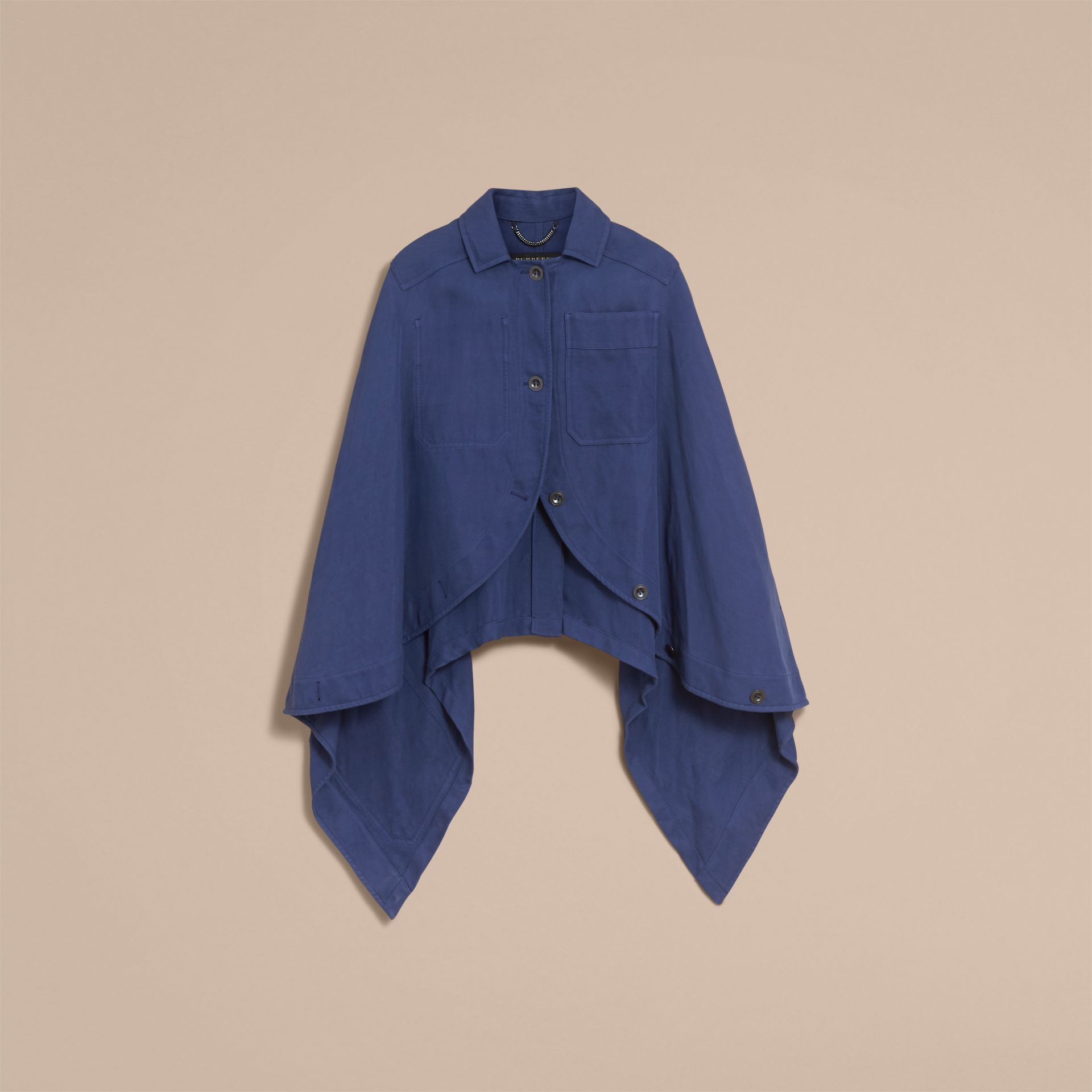 Ramie Cotton Workwear Cape - gallery image 4