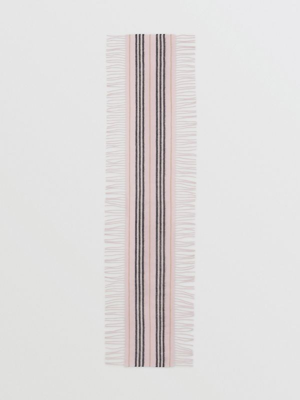 Fringed Icon Stripe Cashmere Scarf in Alabaster - Children | Burberry United States - cell image 2