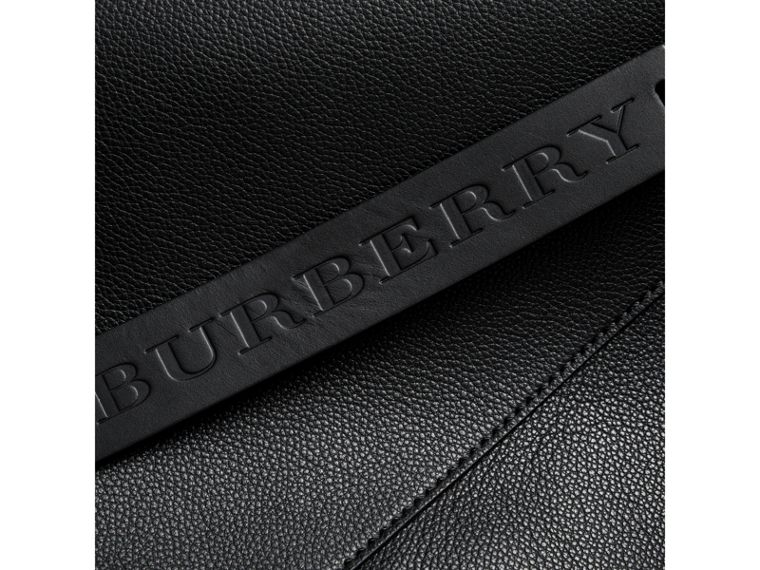 Large Bonded Leather Tote in Black | Burberry Singapore - cell image 1