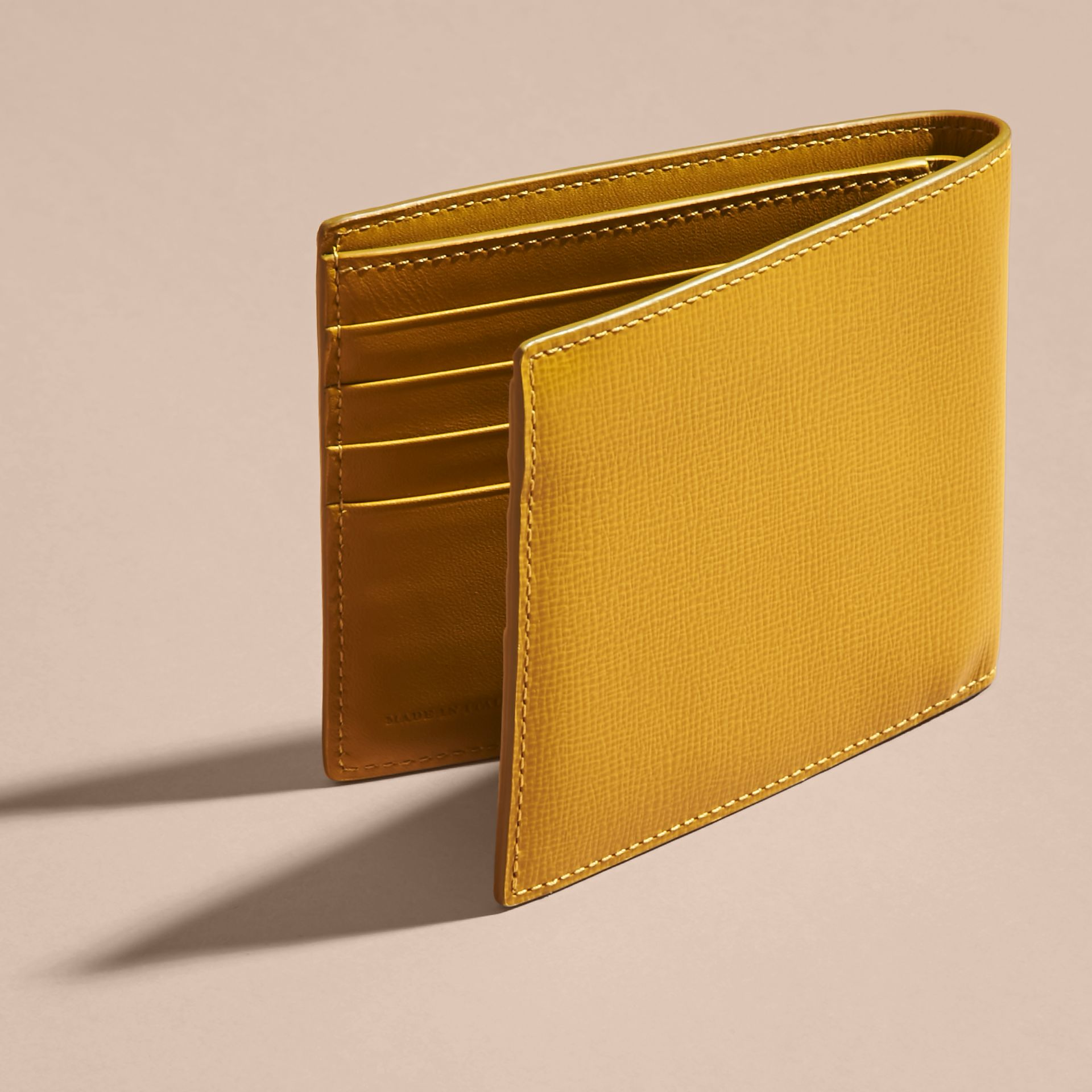 London Leather International Bifold Wallet Larch Yellow - gallery image 2