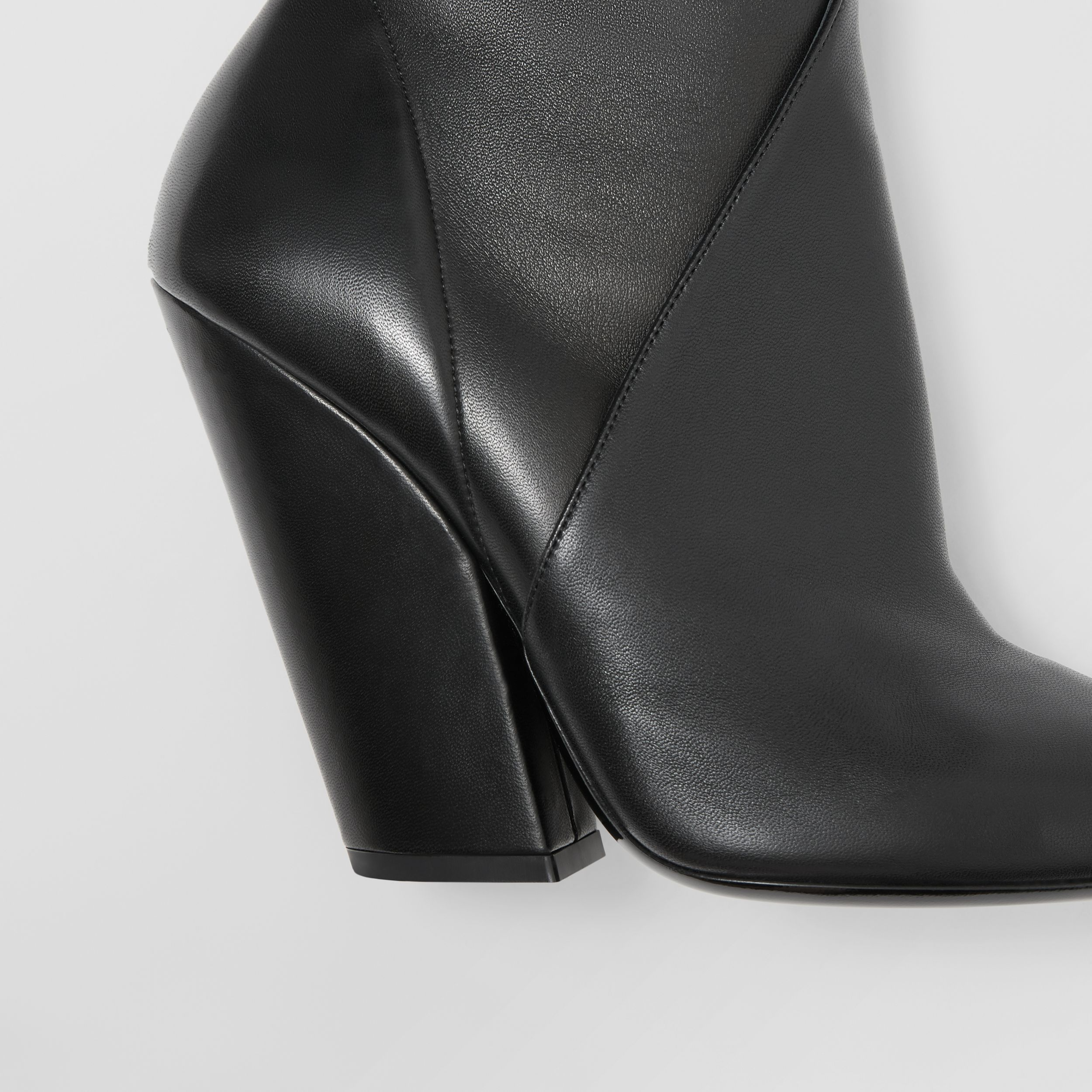 Panelled Lambskin Ankle Boots in Black - Women | Burberry United Kingdom - 2
