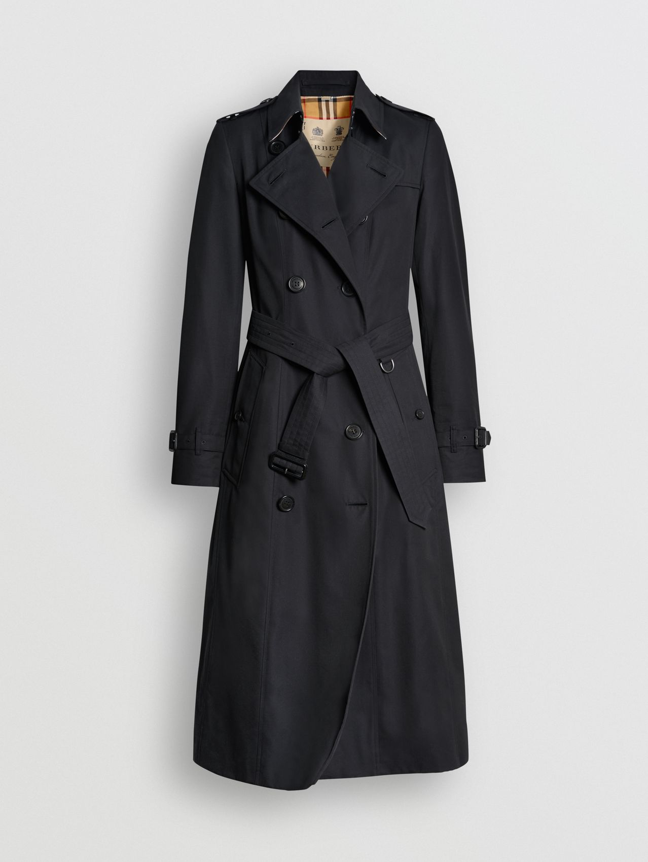The Long Chelsea Heritage Trench Coat in Midnight