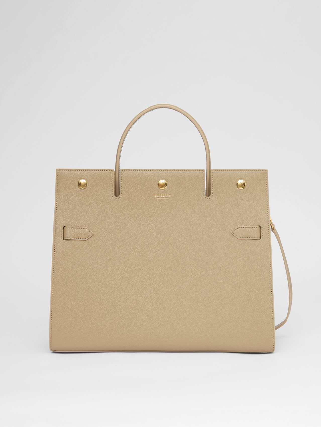 Medium Leather Title Bag in Honey