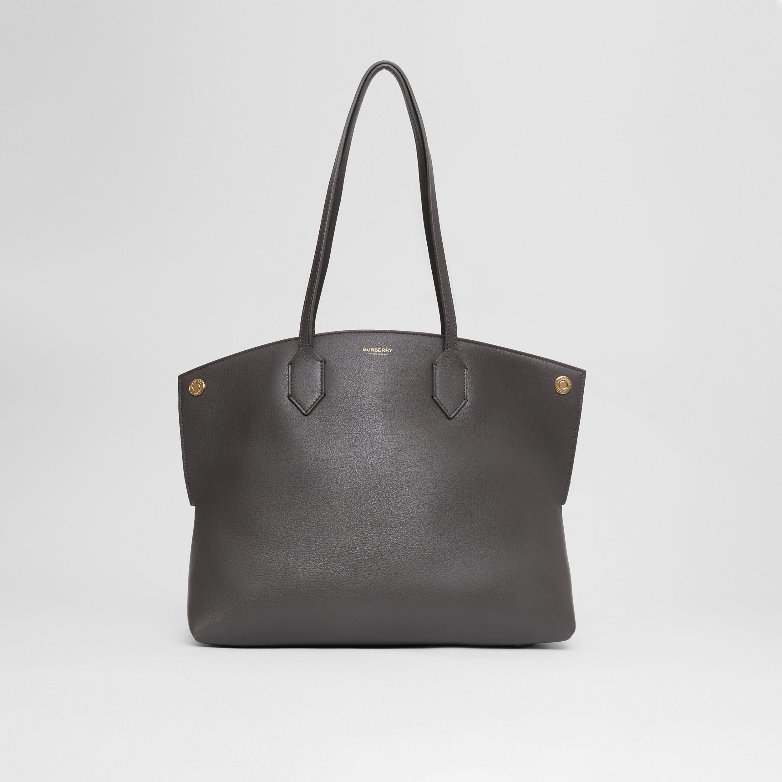 Medium Leather Society Tote in Anthracite - Women | Burberry - 1