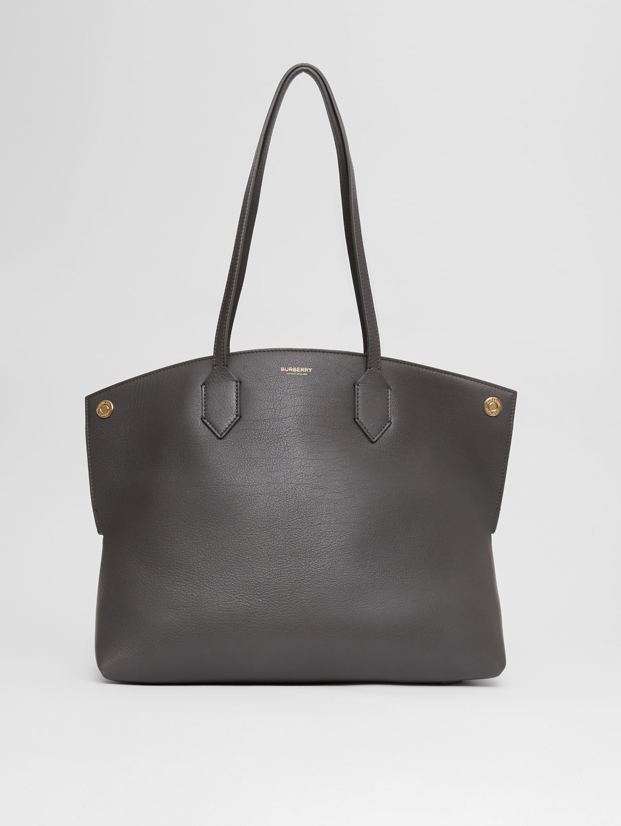 Medium Leather Society Tote in Anthracite