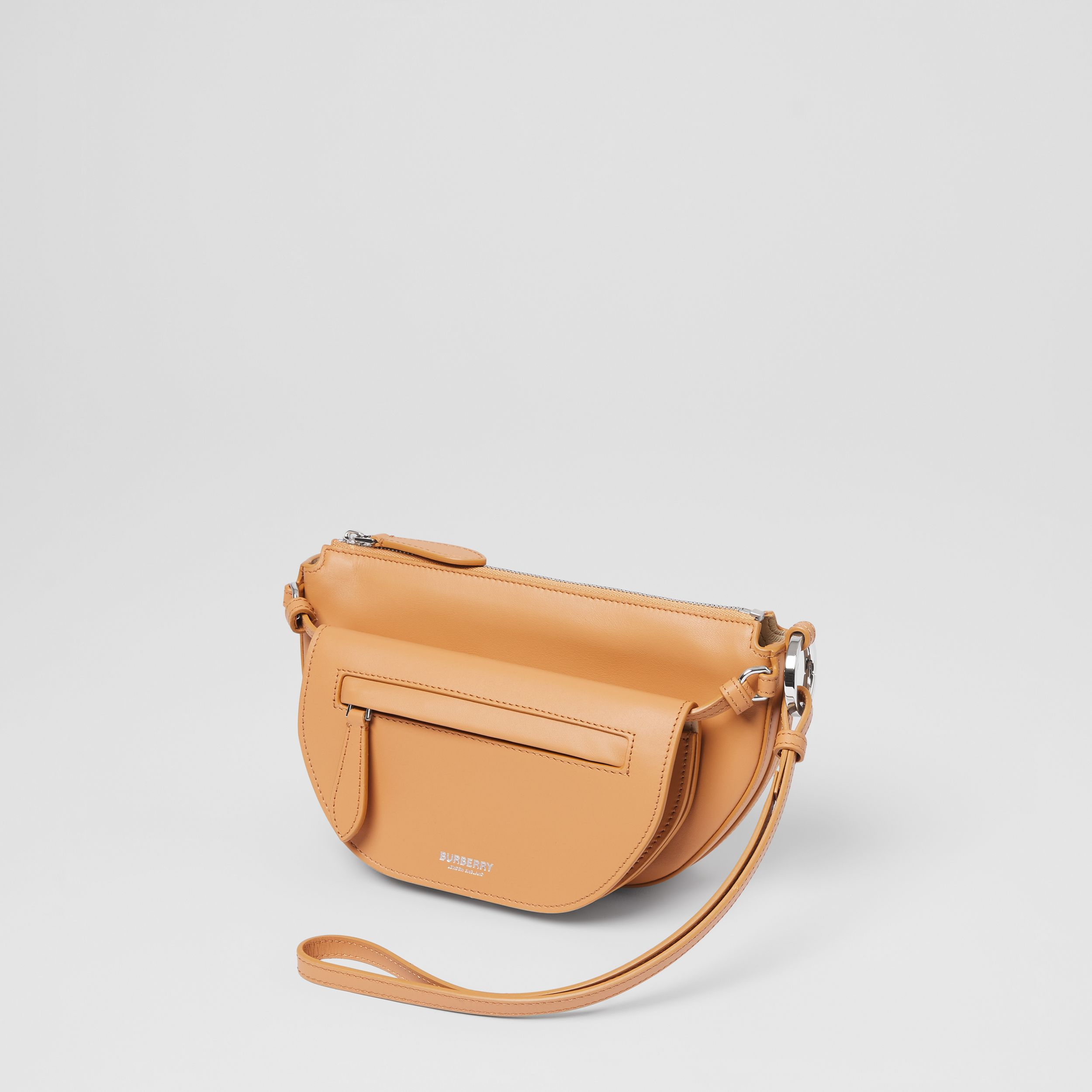 Mini Leather Double Olympia Bag in Warm Sand - Women | Burberry - 3