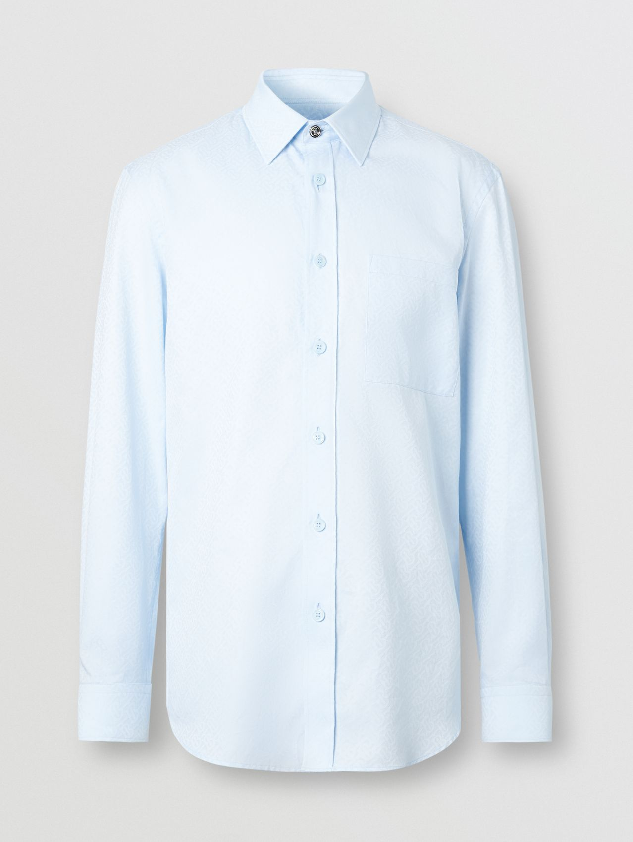 Slim Fit Monogram Cotton Jacquard Shirt