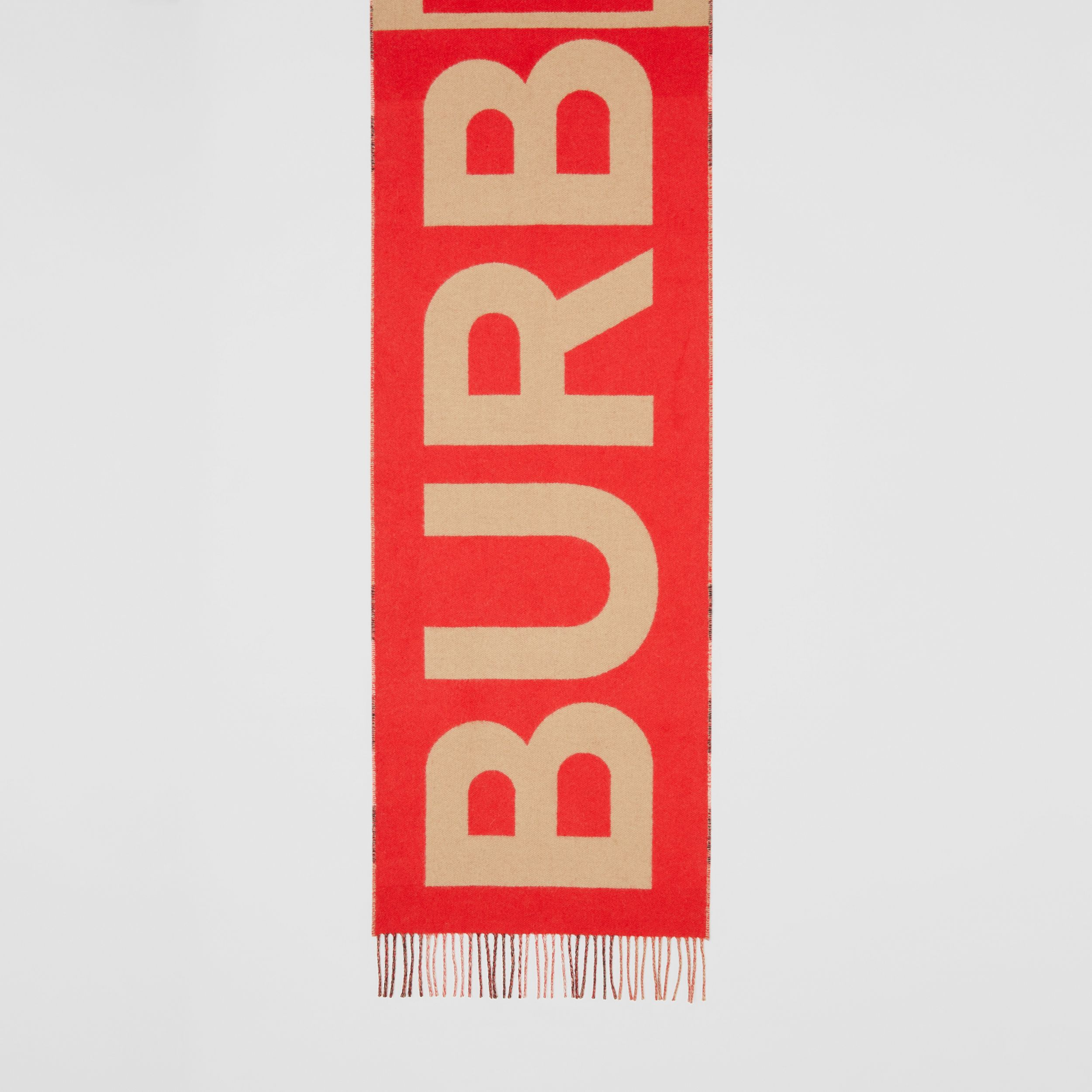 Reversible Check and Logo Cashmere Scarf in Archive Beige | Burberry - 4