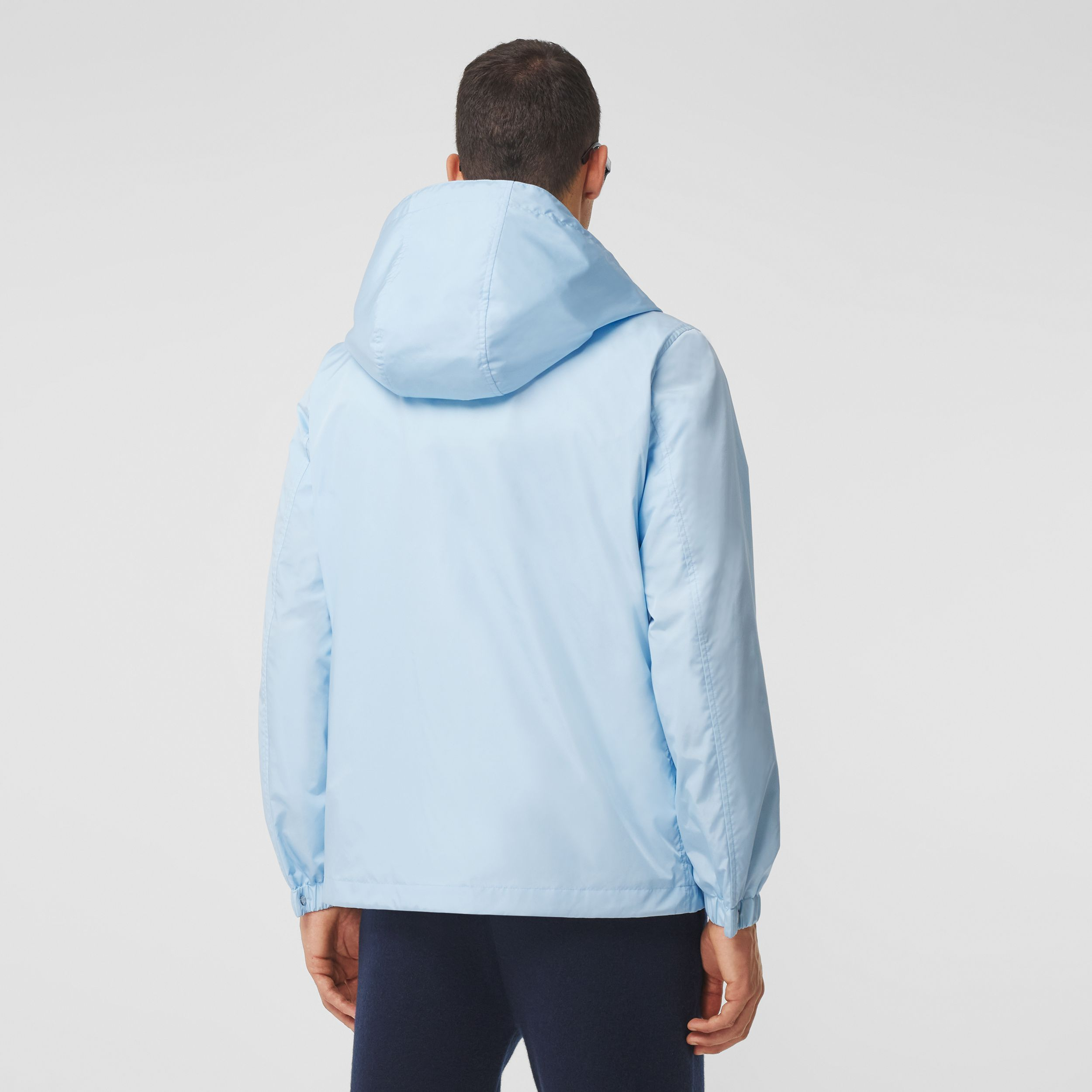 Montage Print ECONYL® Hooded Jacket in Pale Blue - Men | Burberry - 3