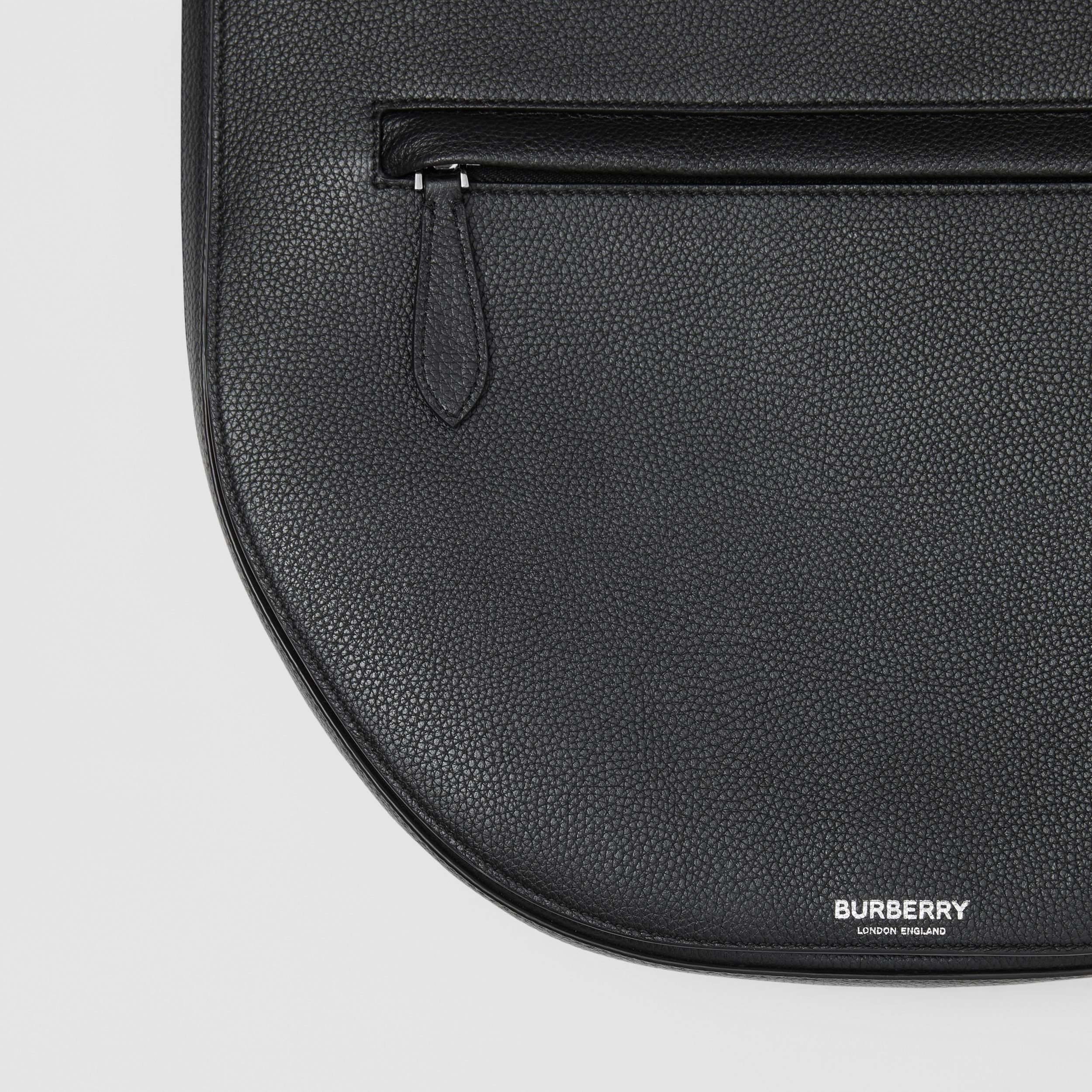 Leather Olympia Crossbody Bag in Black | Burberry Australia - 2
