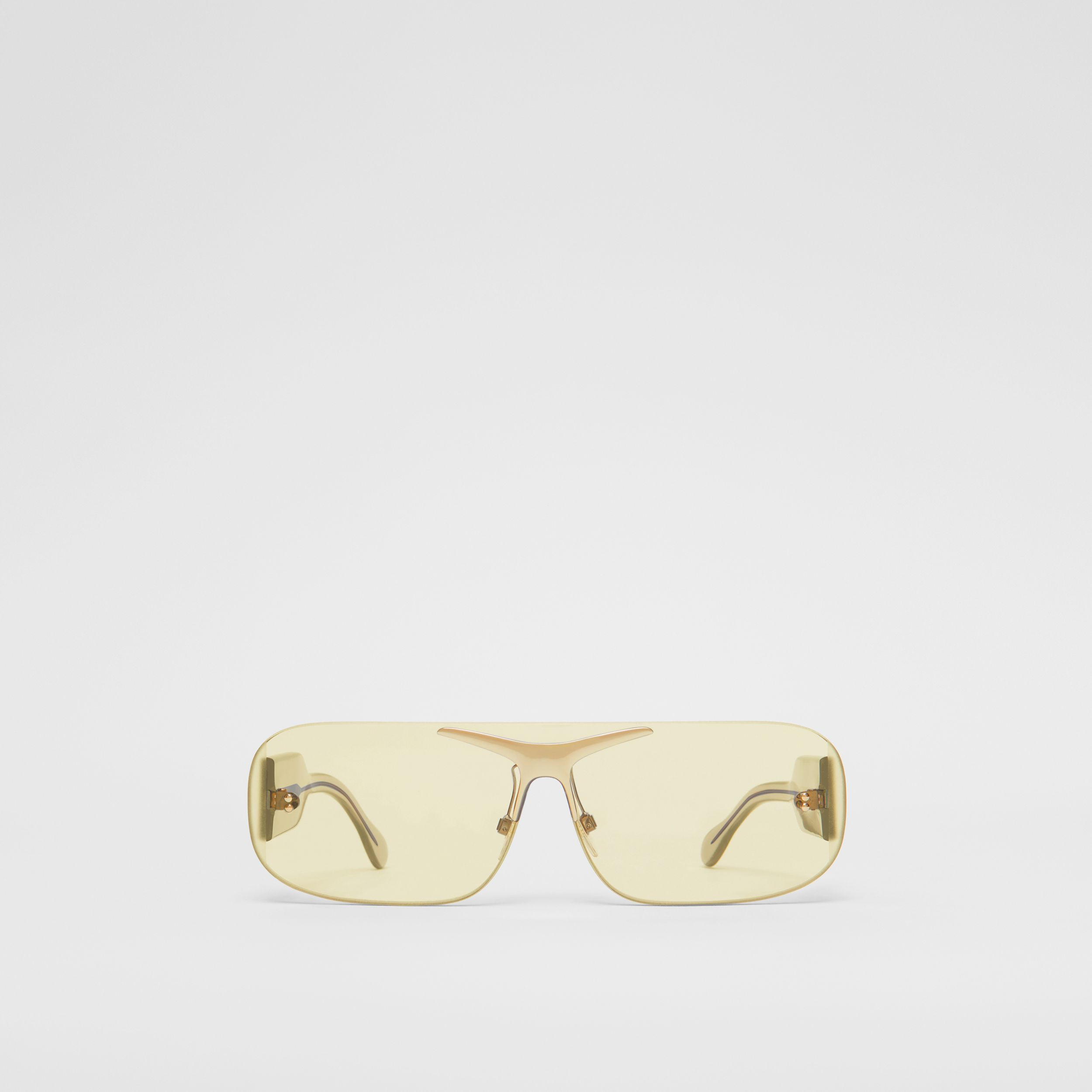 Blake Shield Sunglasses in Nude Gold | Burberry Singapore - 1