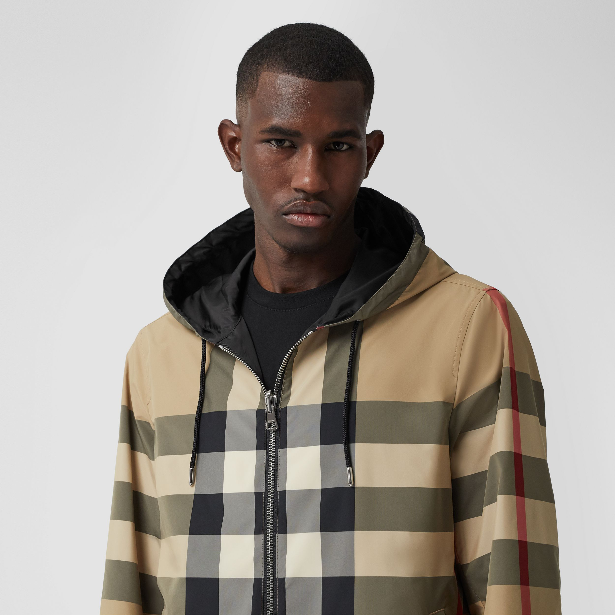 Reversible Check Recycled Polyester and ECONYL® Jacket in Archive Beige - Men | Burberry - 2