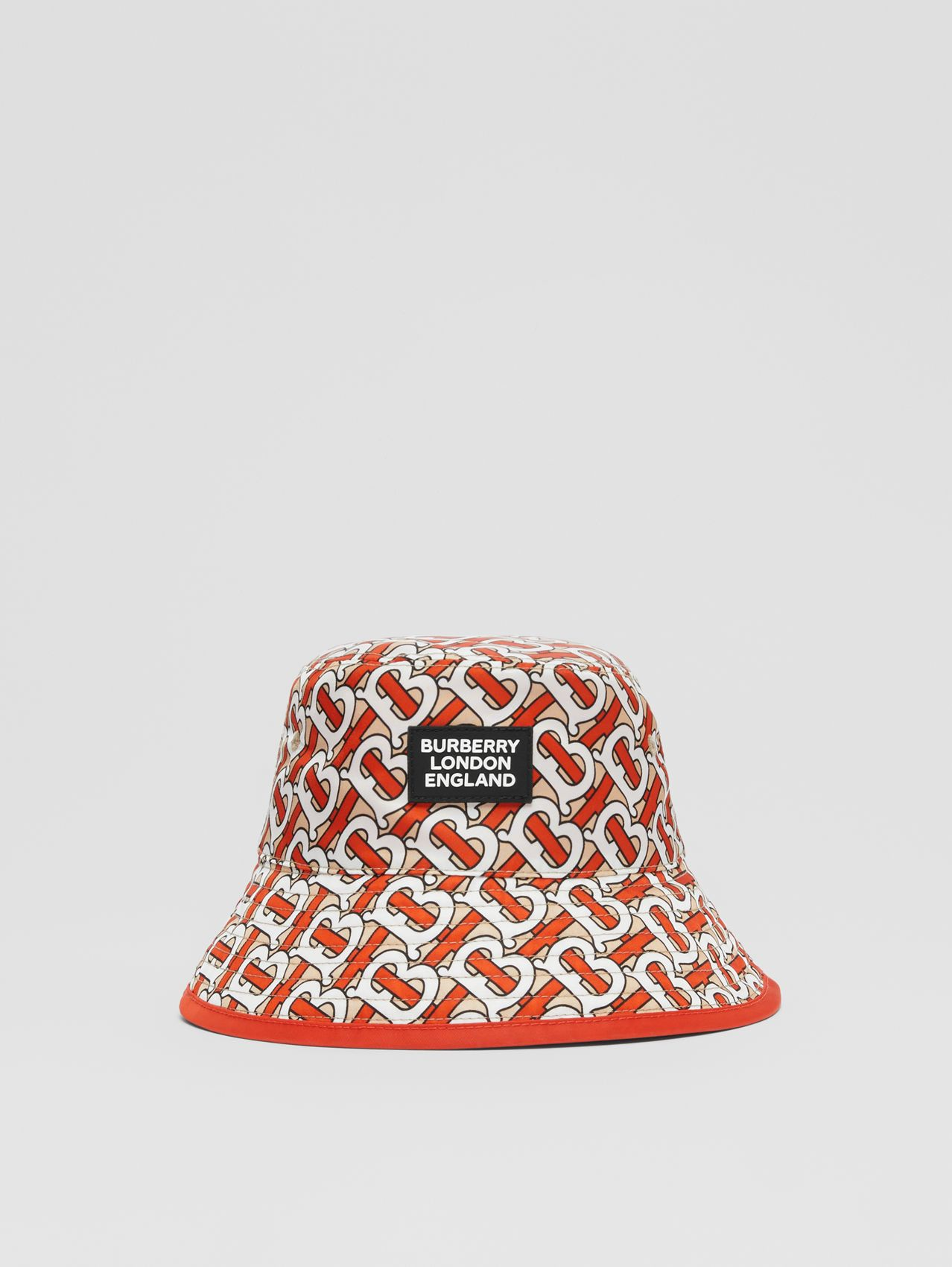 Reversible Monogram Print Bucket Hat in Vermilion