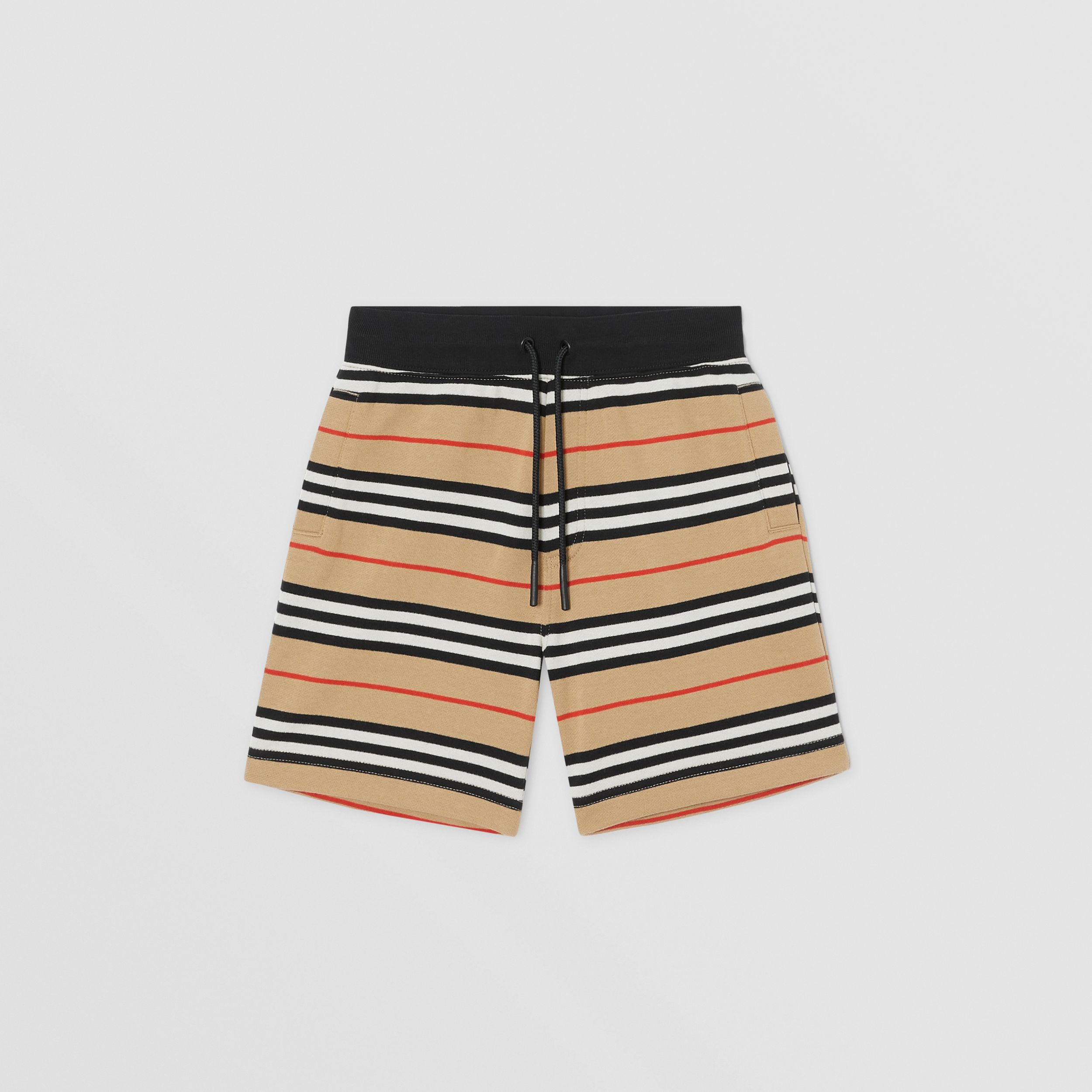 Icon Stripe Cotton Shorts in Archive Beige | Burberry - 1