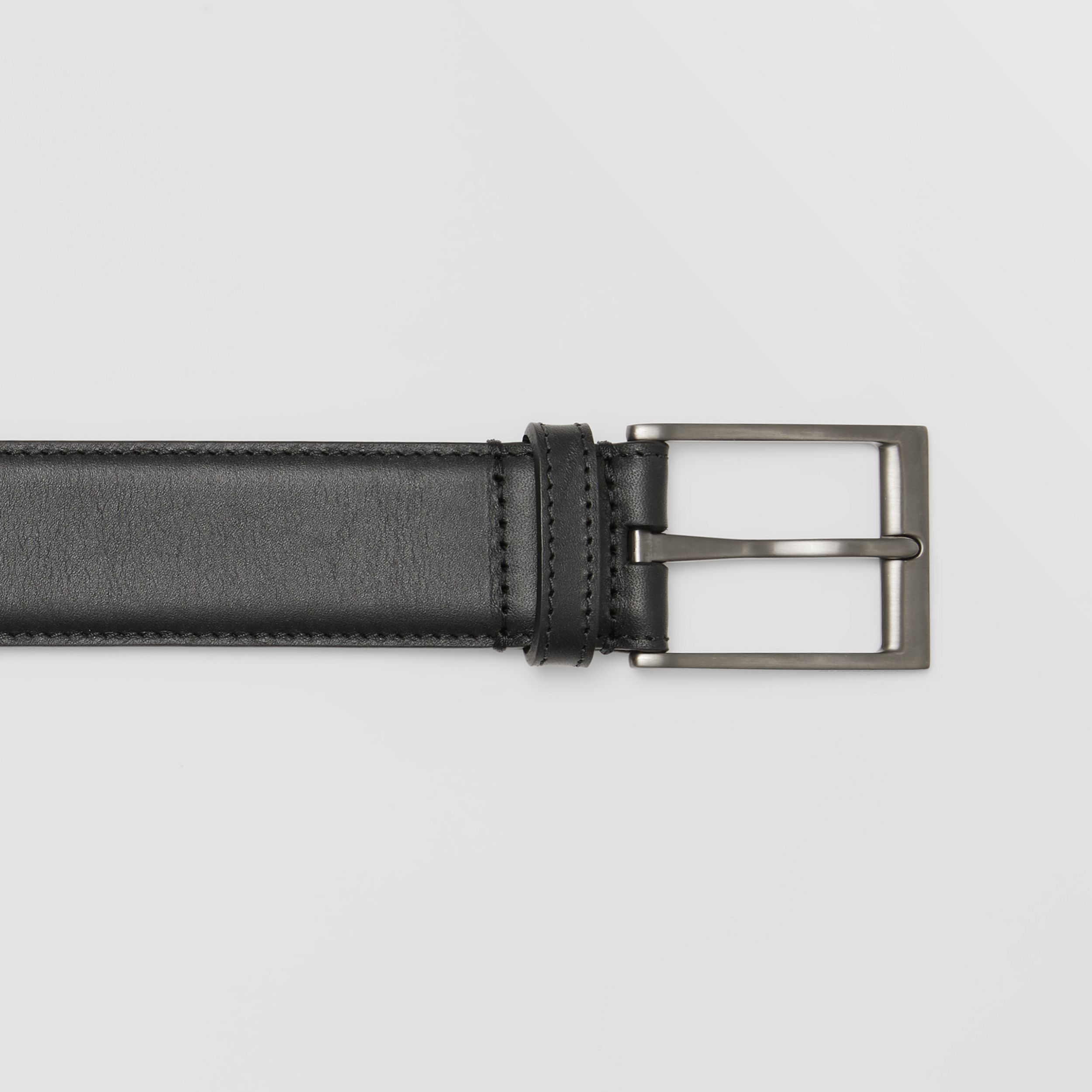 Leather Belt in Black - Men | Burberry Australia - 2