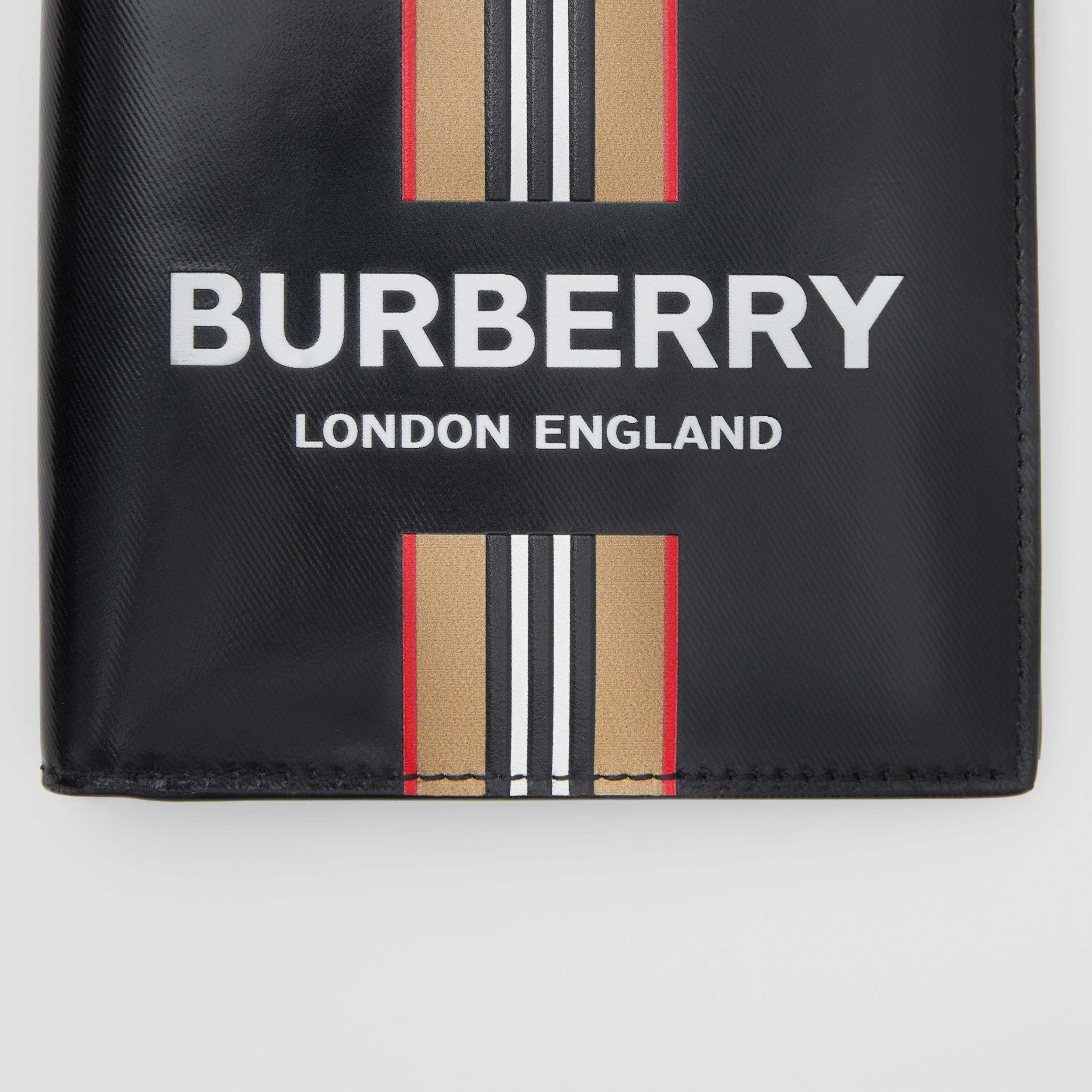 Logo and Icon Stripe Print International Bifold Wallet in Black - Men | Burberry - 2