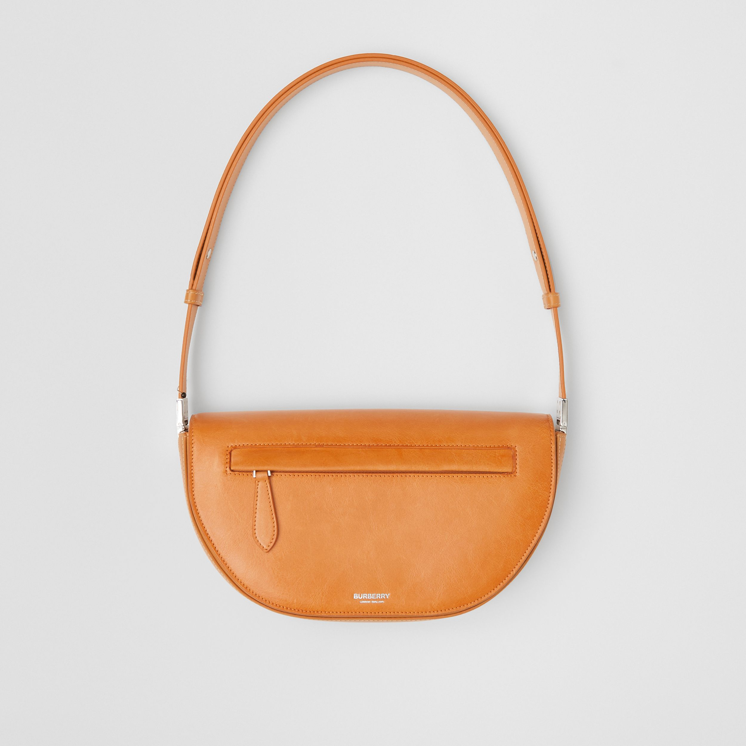 Small Leather Olympia Bag in Pale Orange - Women | Burberry - 1