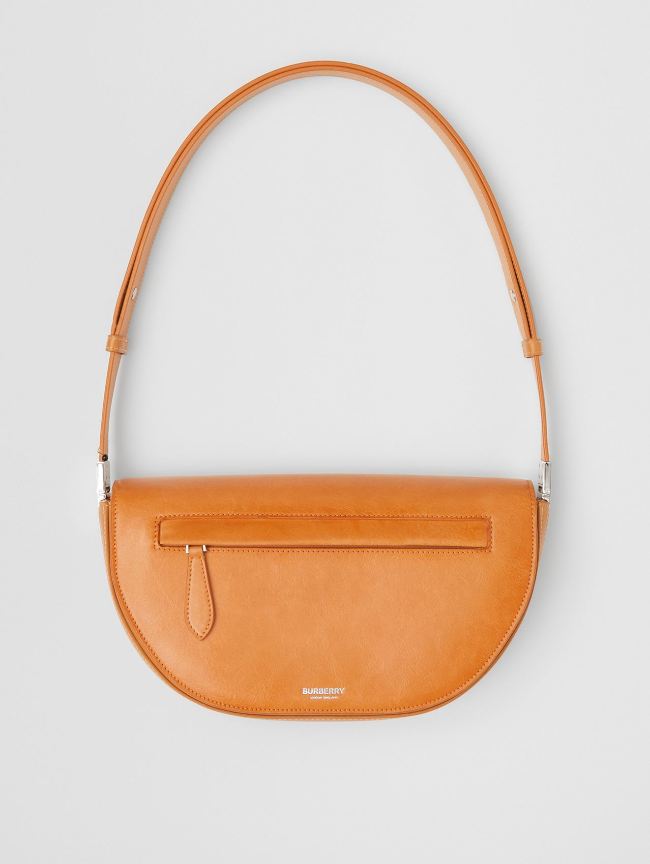 Small Leather Olympia Bag in Pale Orange