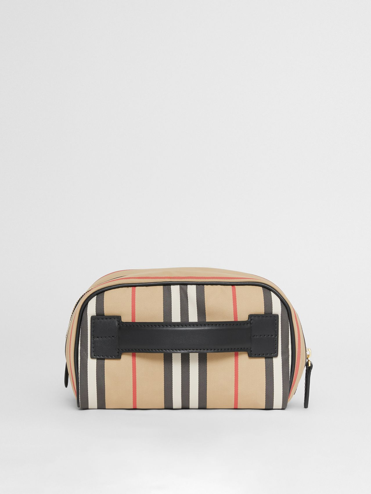 Small Icon Stripe ECONYL® Travel Pouch in Archive Beige