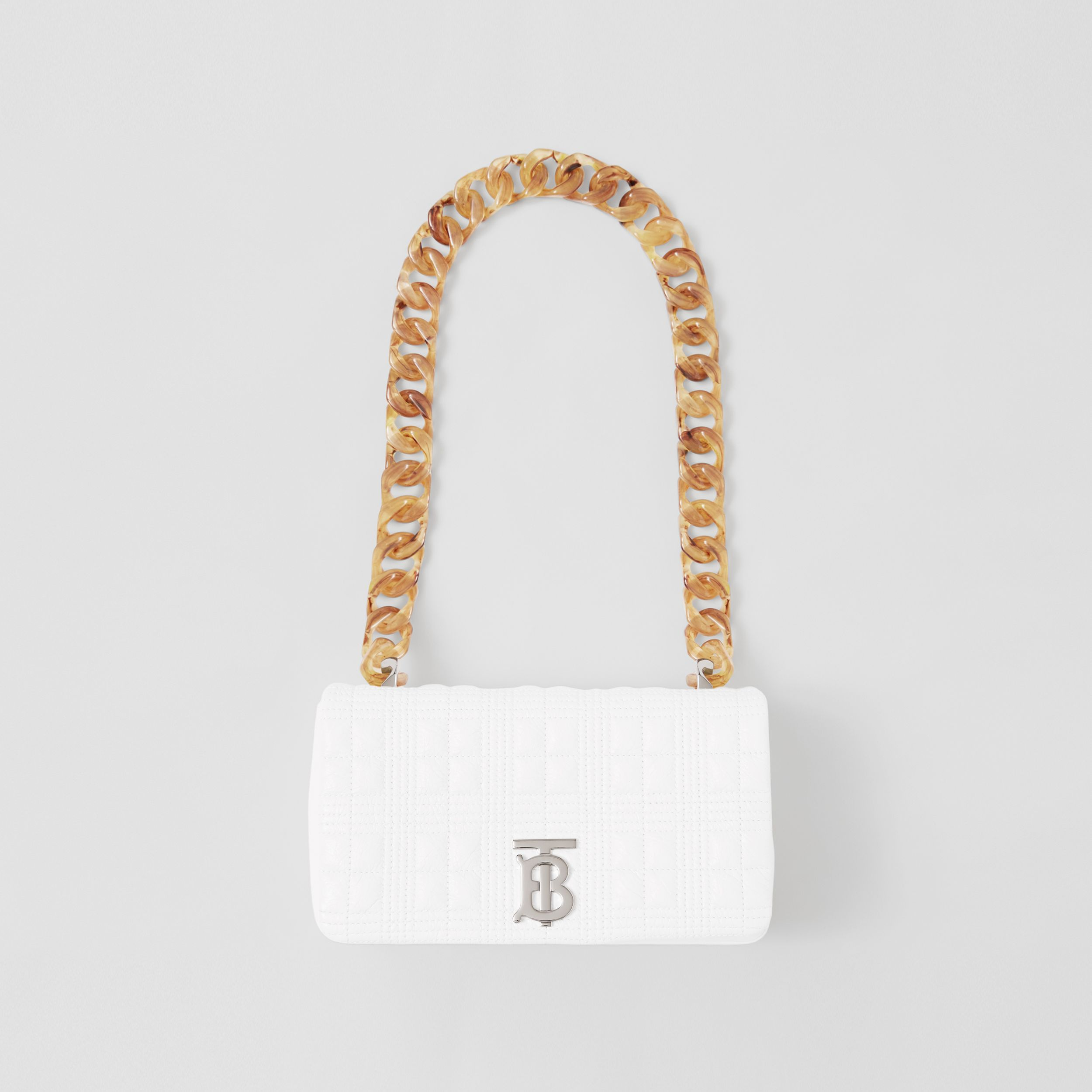 Small Quilted Lambskin Lola Bag in Optic White - Women | Burberry - 1