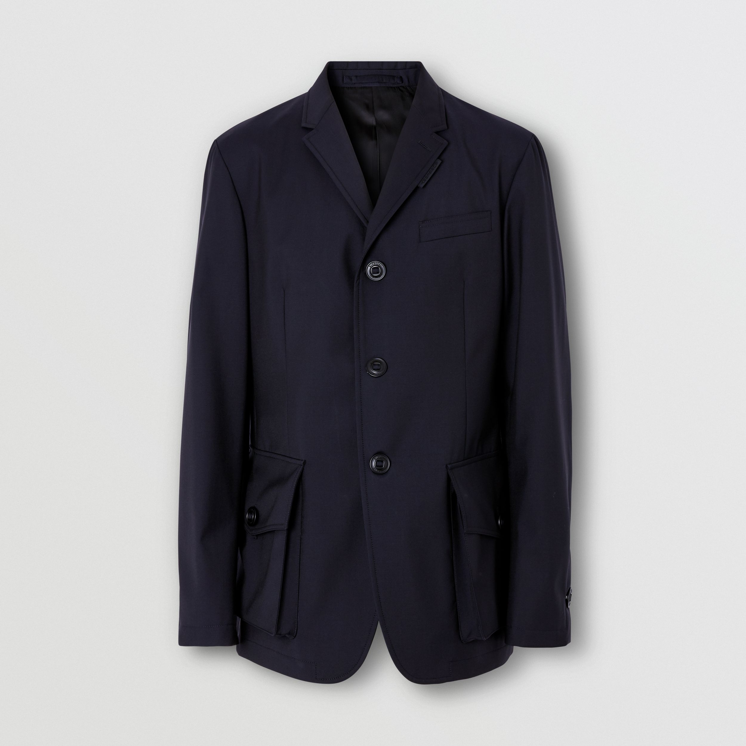 Bonded Wool Tailored Jacket in Navy - Men | Burberry Hong Kong S.A.R. - 4