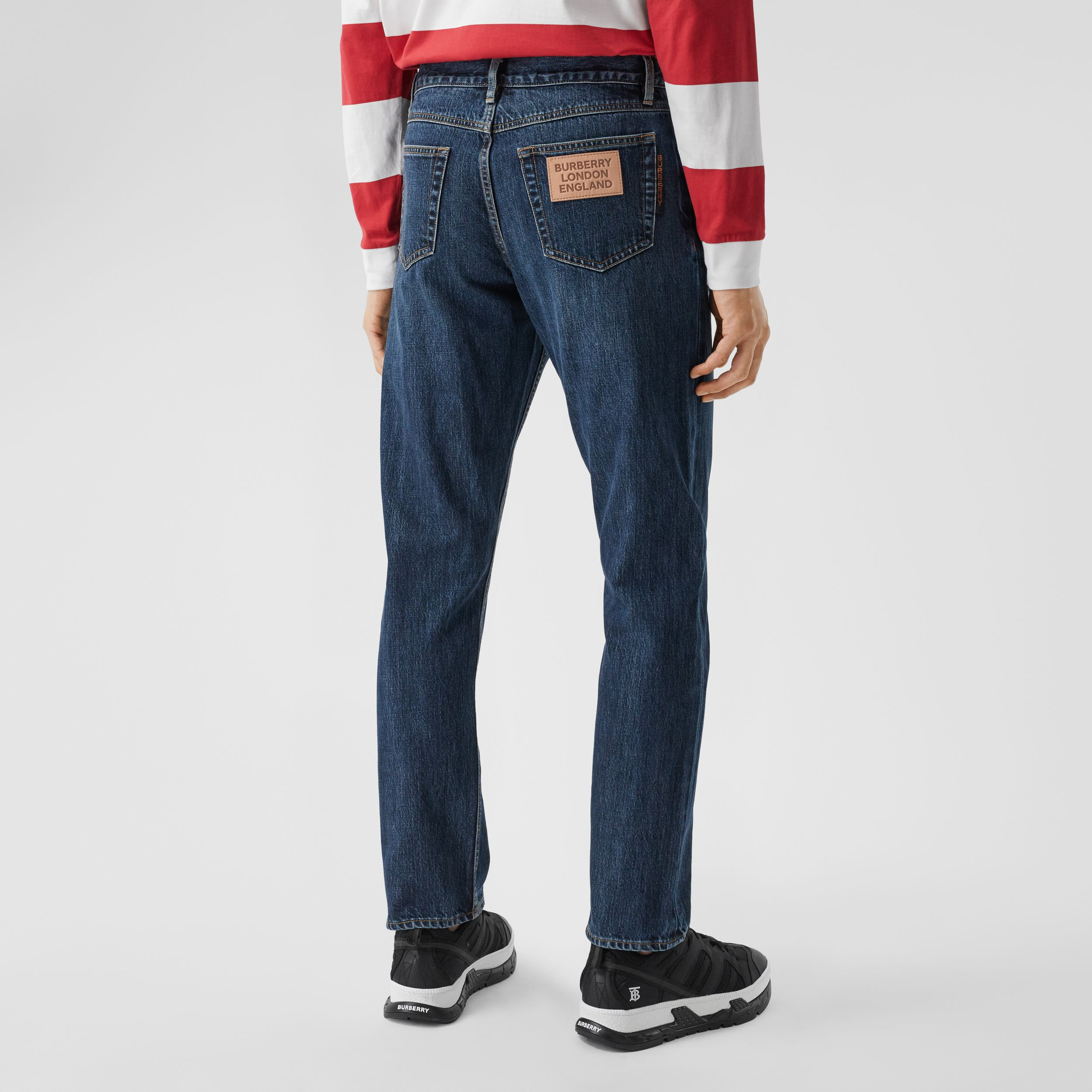 Straight Fit Japanese Selvedge Denim Jeans - Men | Burberry - 3