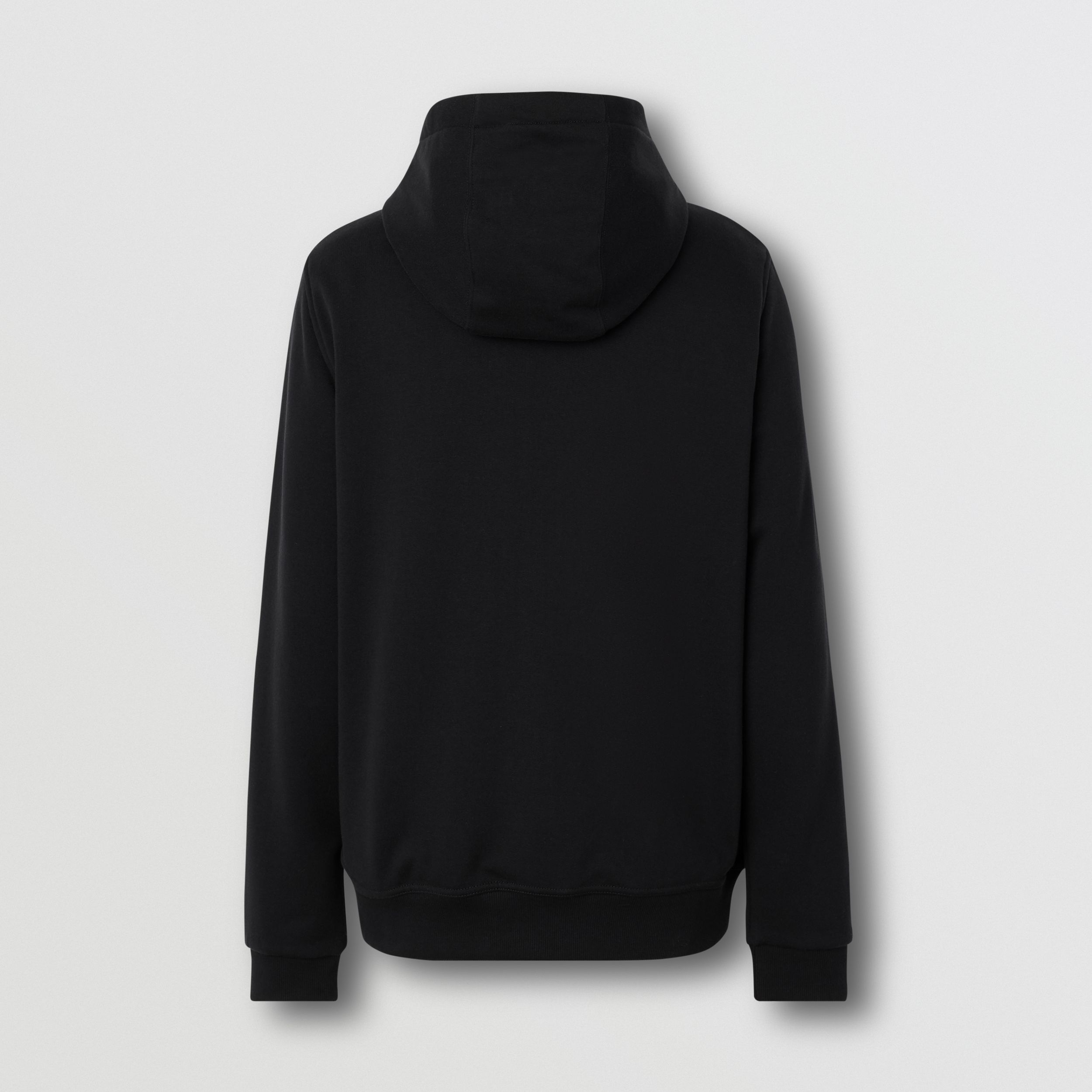 Logo Appliqué Cotton Hooded Top in Black - Men | Burberry - 2