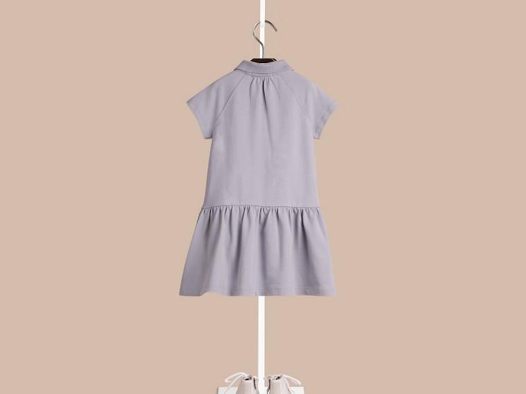 Blu lupino pallido Abito T-shirt in misto cotone con paramontura check Blu Lupino Pallido - cell image 1