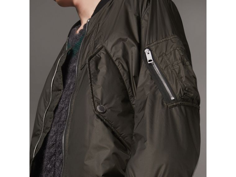 Lightweight Bomber Jacket in Dark Olive - Men | Burberry - cell image 1