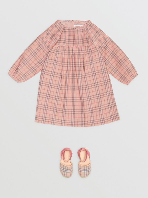 Check Cotton Poplin Dress in Pale Pink - Children | Burberry - cell image 2