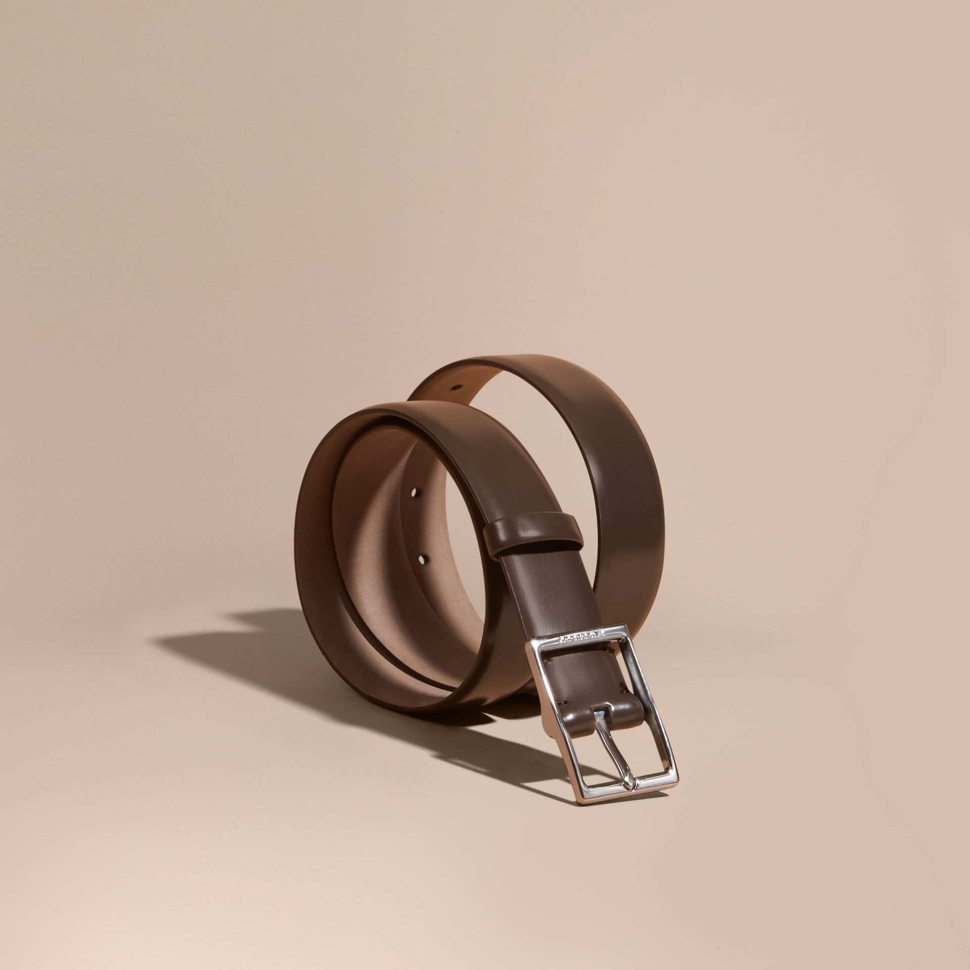 Bridle Leather Belt in Bitter Chocolate - Men | Burberry - gallery image 1
