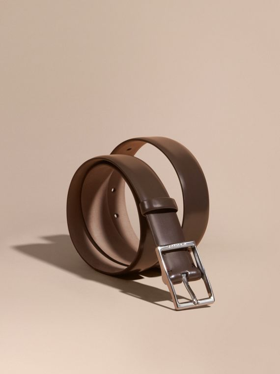 Bridle Leather Belt Bitter Chocolate