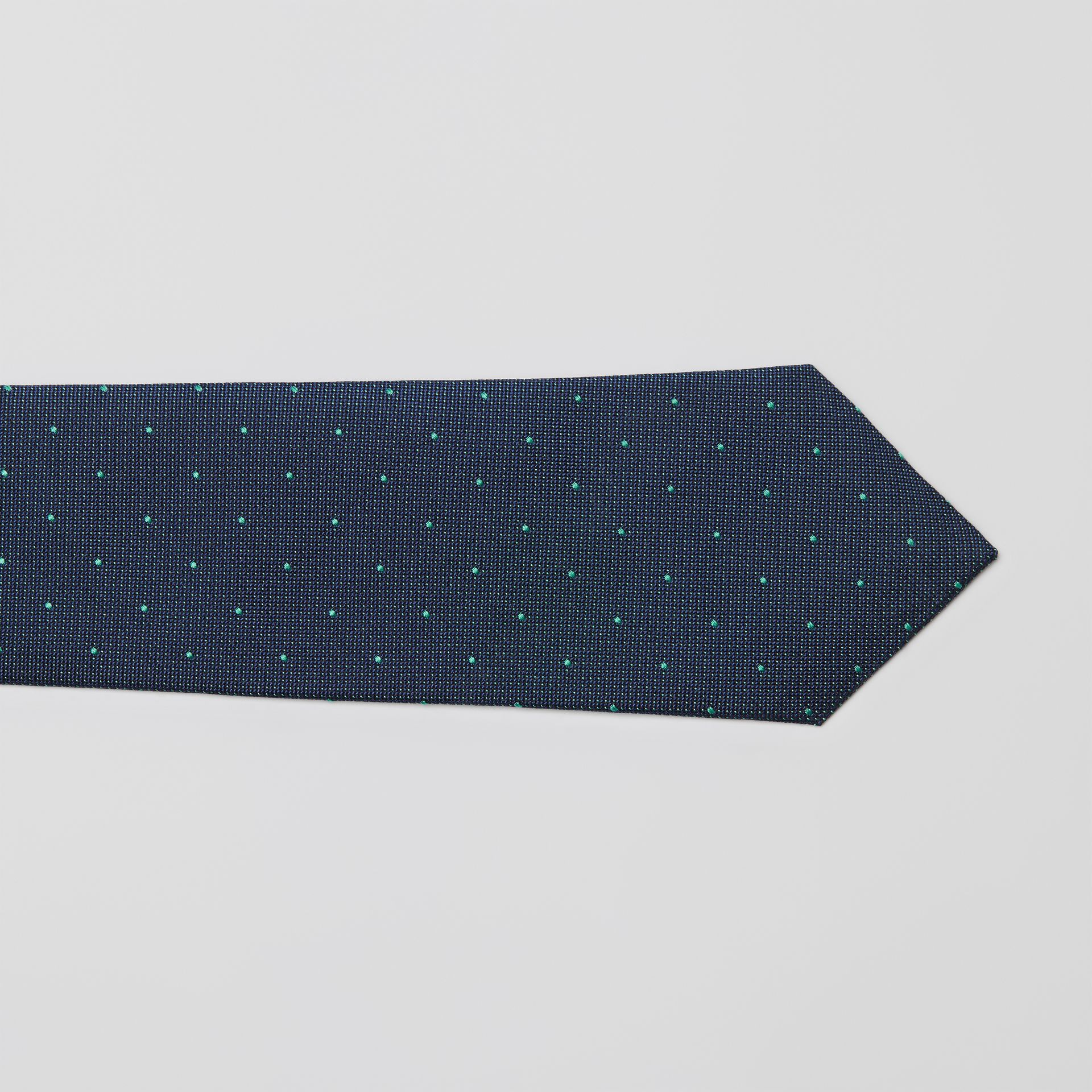 Modern Cut Polka Dot Silk Tie in Mineral Blue - Men | Burberry United States - gallery image 1