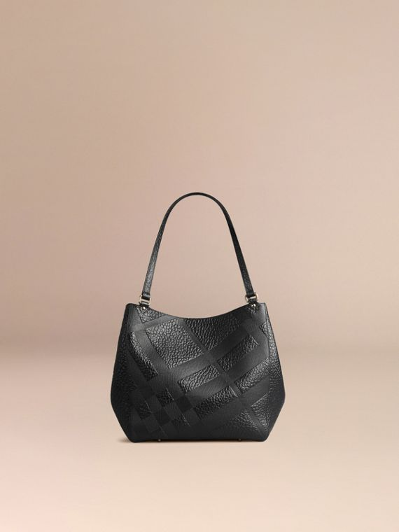 Black The Small Canter in Embossed Check Leather Black - cell image 2