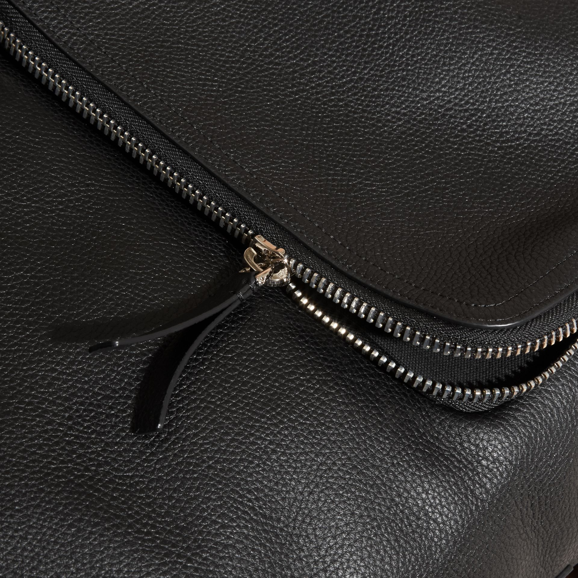 Black Grainy Leather Backpack - gallery image 2
