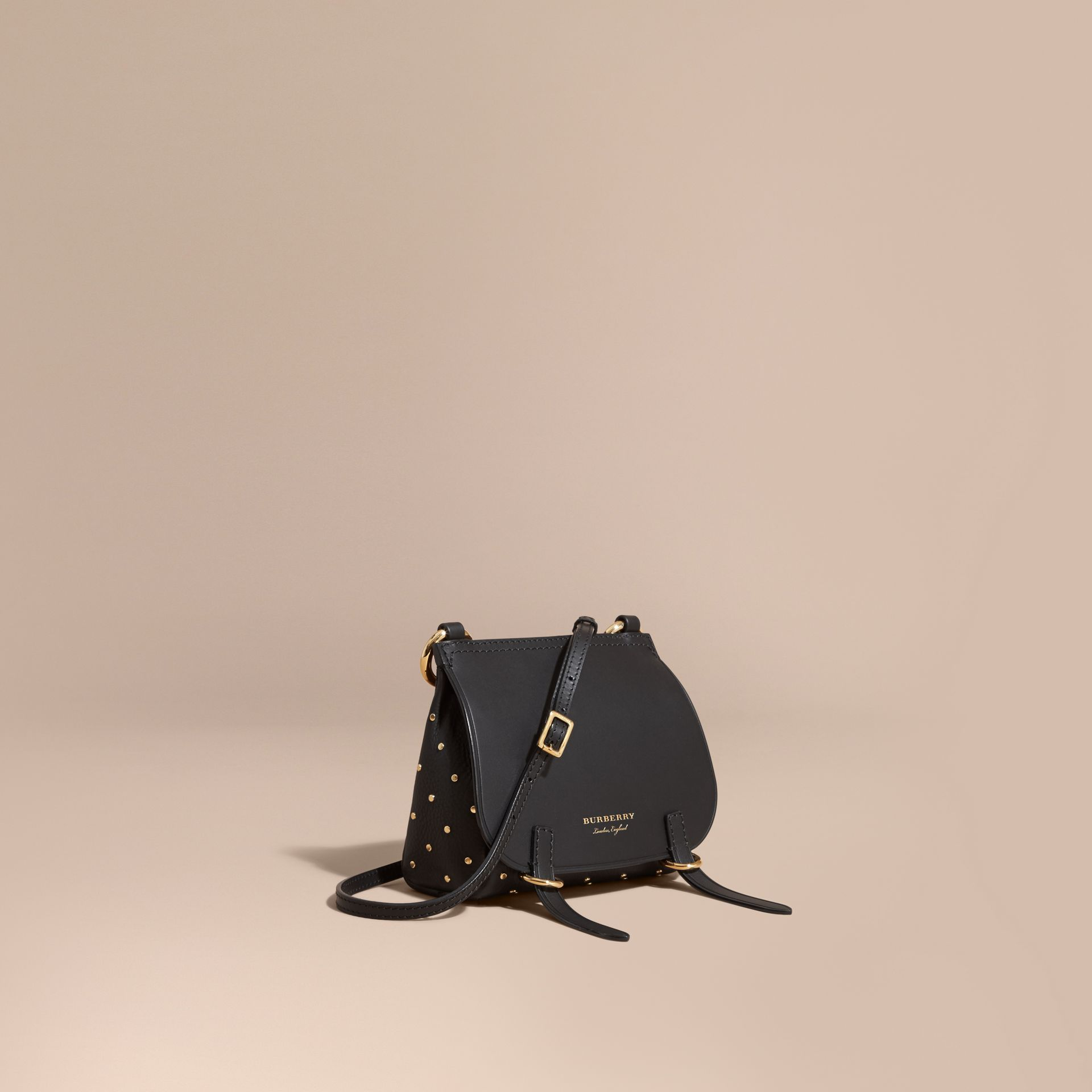 Black The Baby Bridle Bag in Riveted Leather - gallery image 1