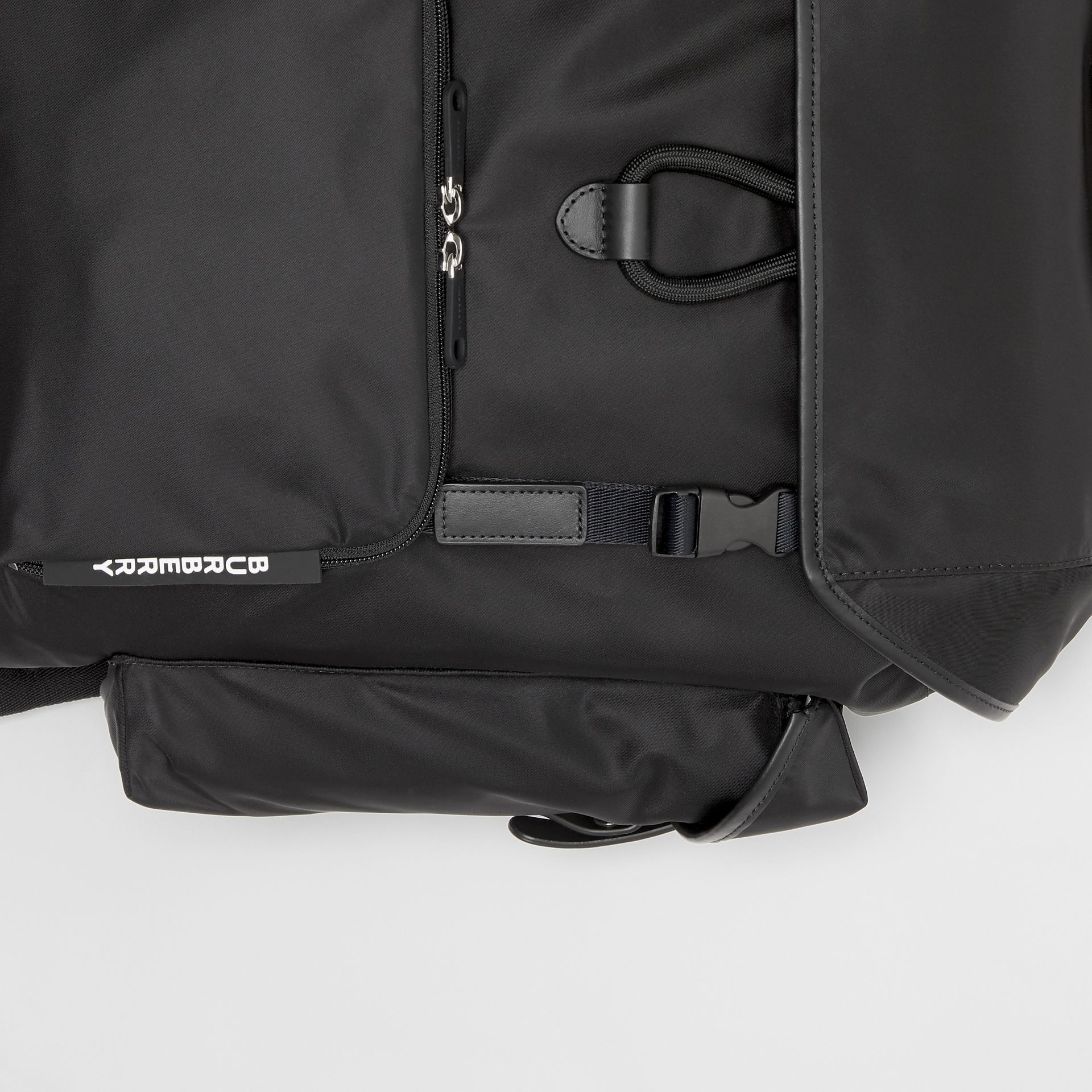 Logo Detail Nylon and Leather Backpack in Black - Men | Burberry - gallery image 1