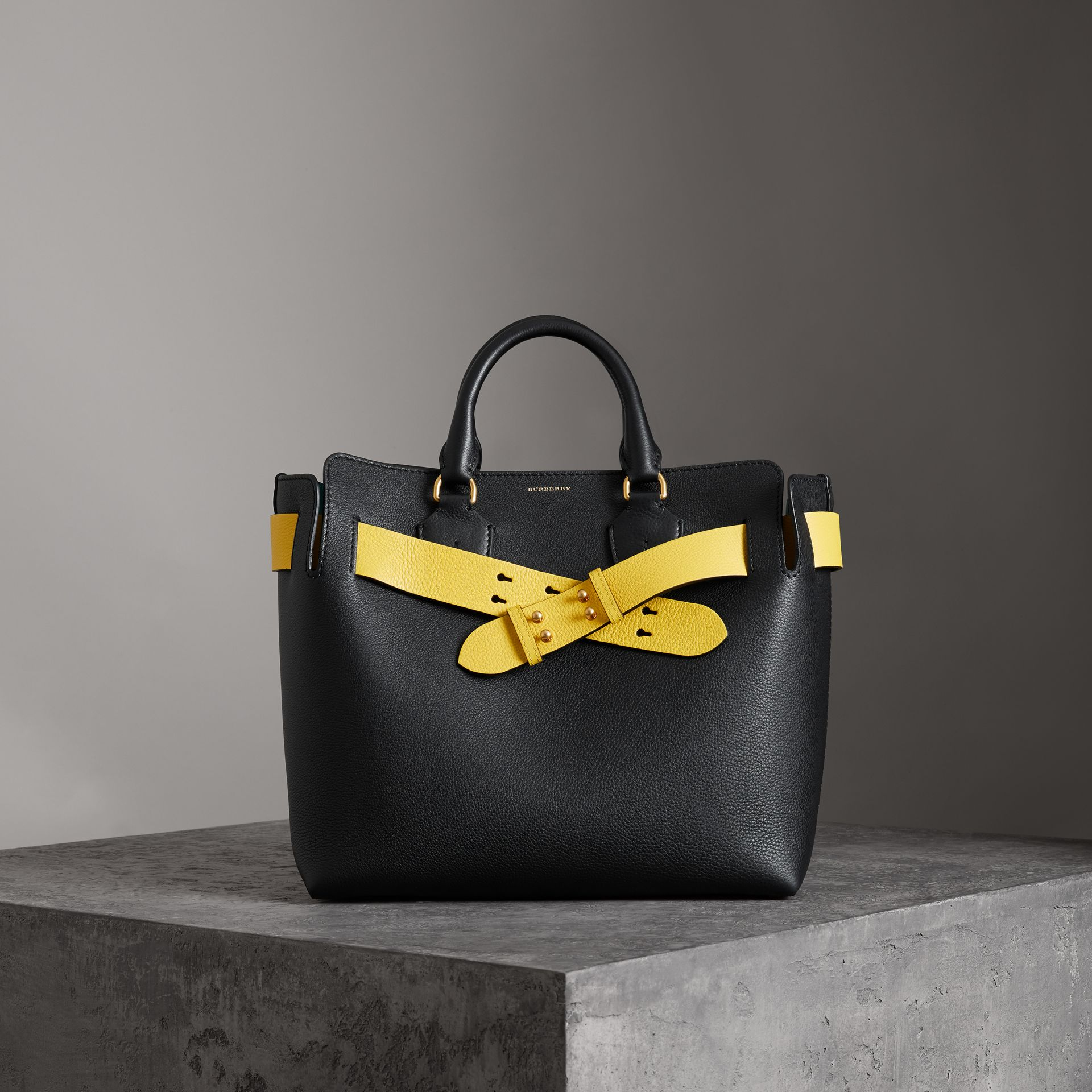 The Medium Leather Belt Bag in Black - Women | Burberry Australia - gallery image 0