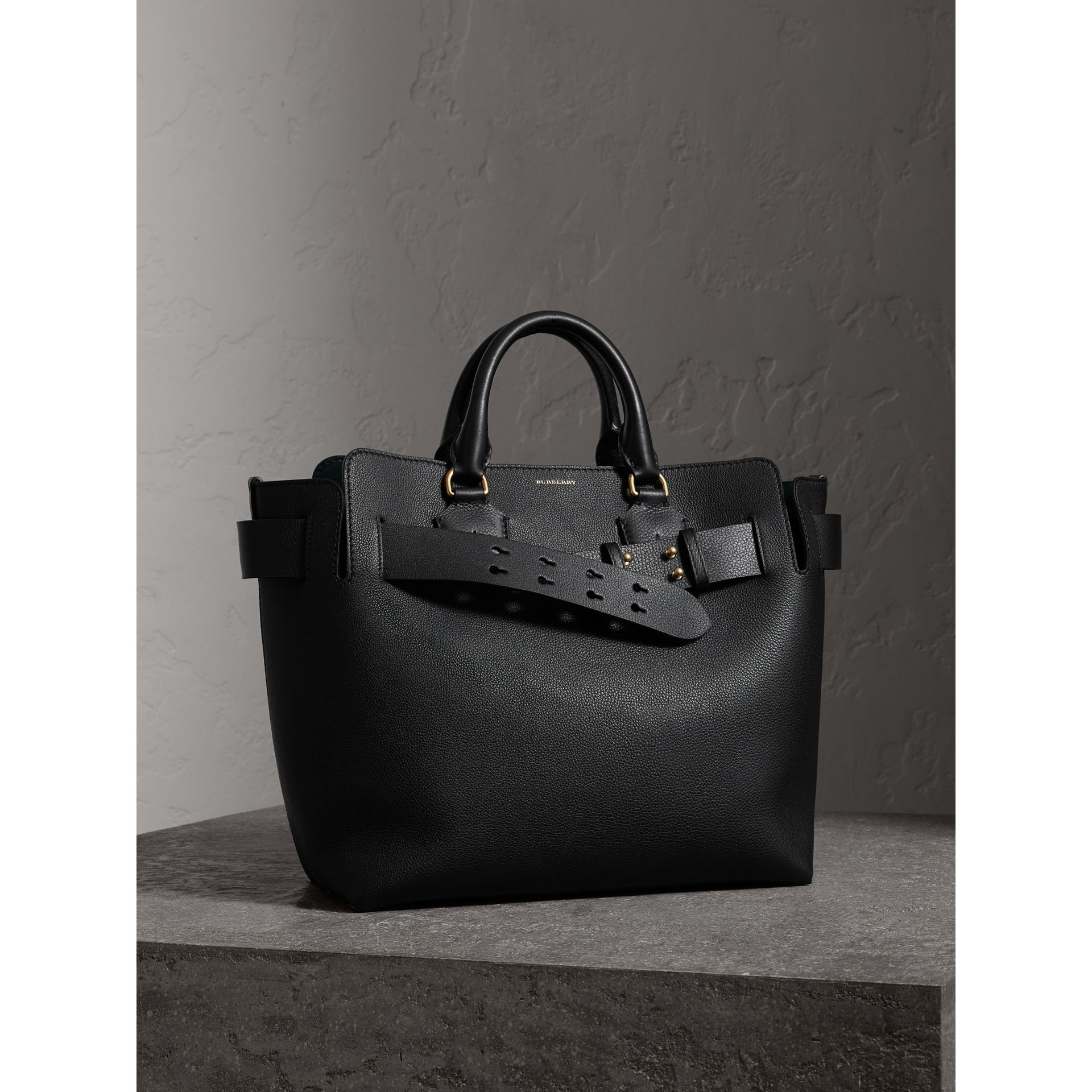 The Medium Leather Belt Bag in Black - Women | Burberry United Kingdom - gallery image 7