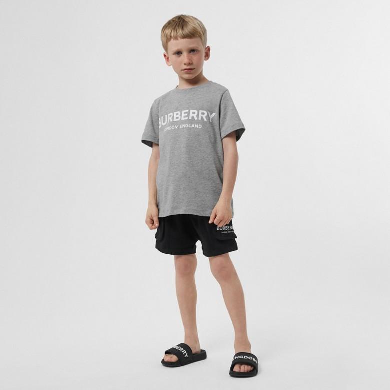 Burberry - T-shirt en coton avec logo imprimé - 4