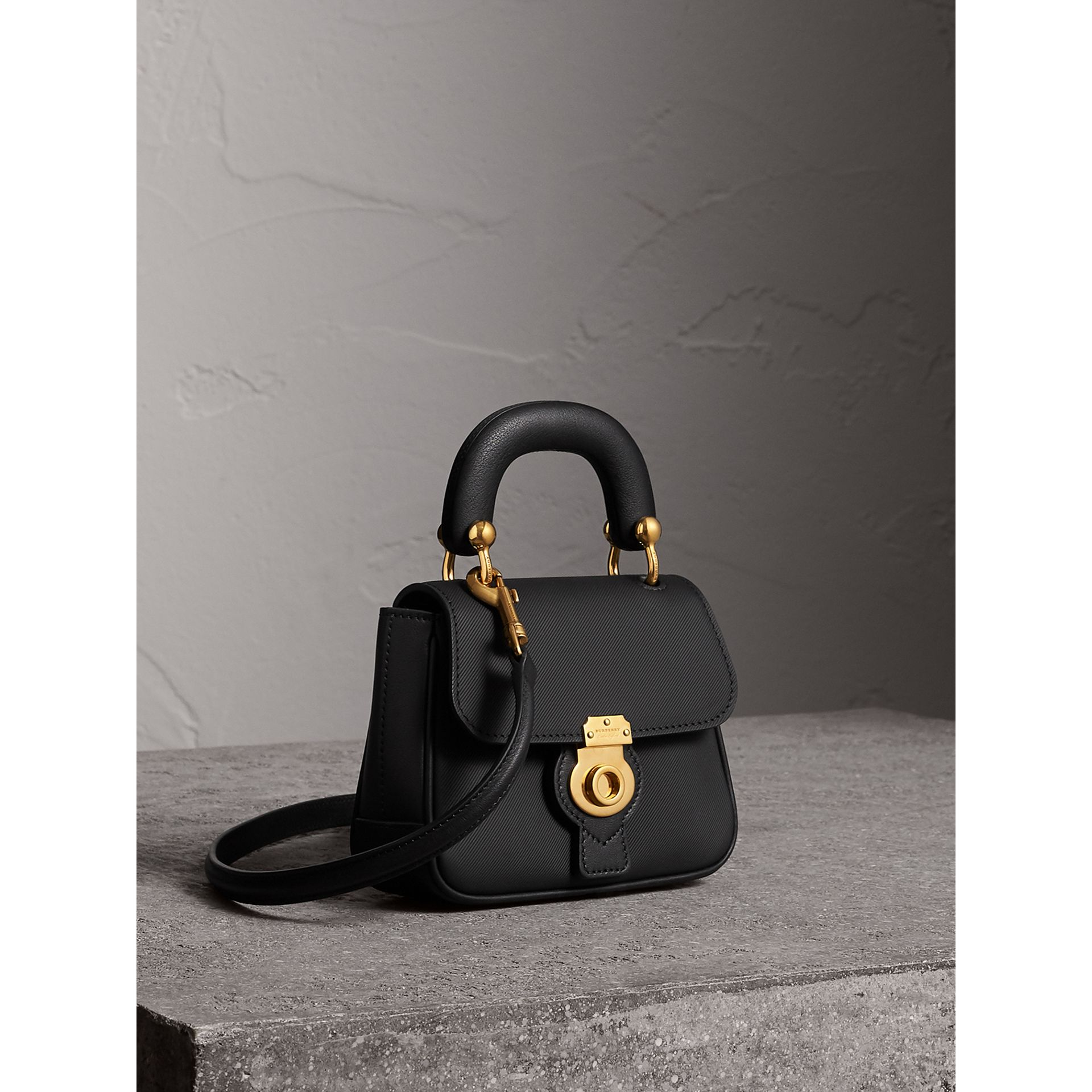 The Mini DK88 Top Handle Bag in Black - Women | Burberry - gallery image 8