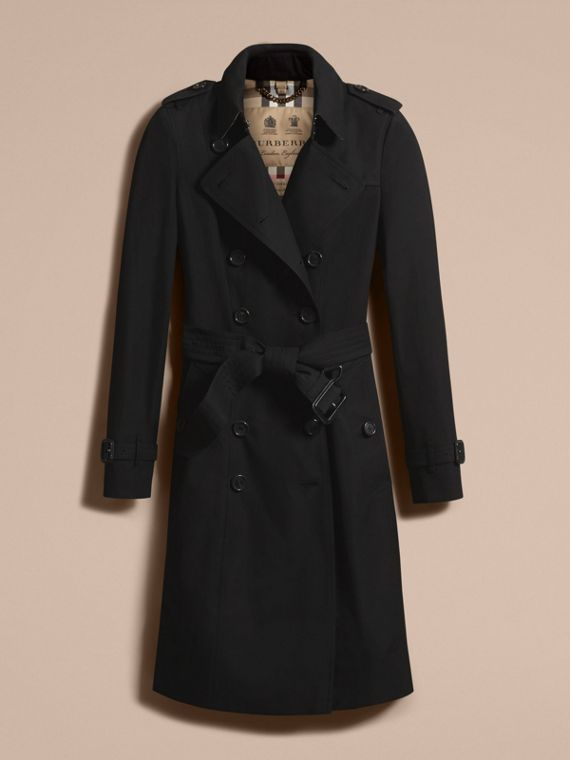 Black The Chelsea – Long Heritage Trench Coat Black - cell image 3