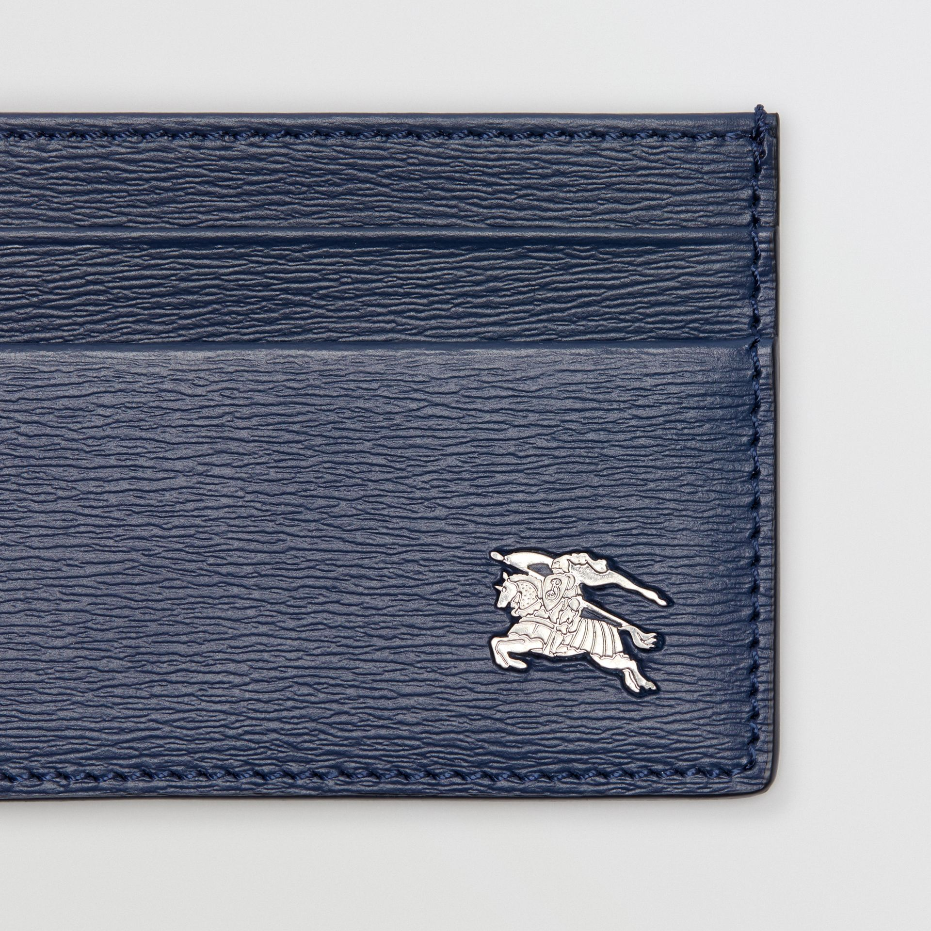 London Leather Card Case in Navy | Burberry - gallery image 1