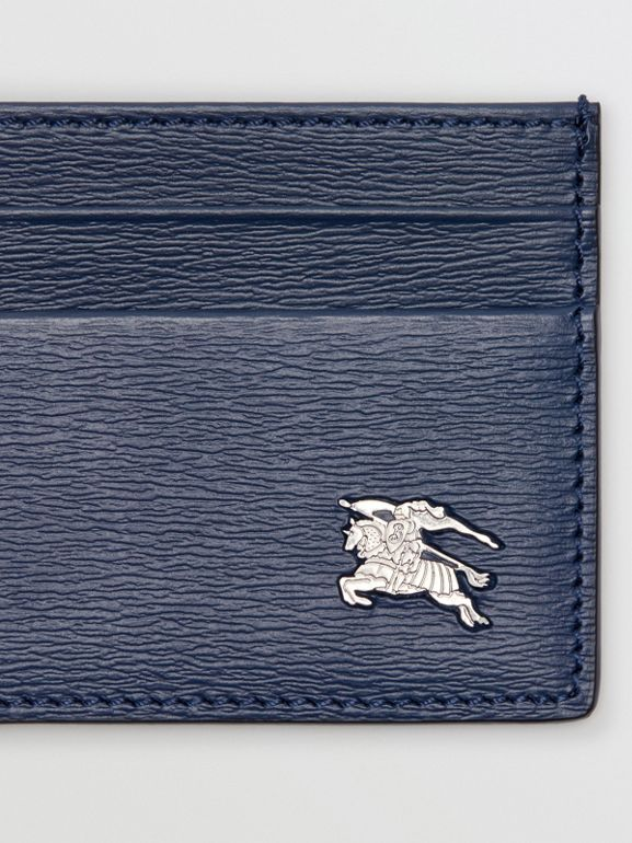 London Leather Card Case in Navy - Men | Burberry - cell image 1