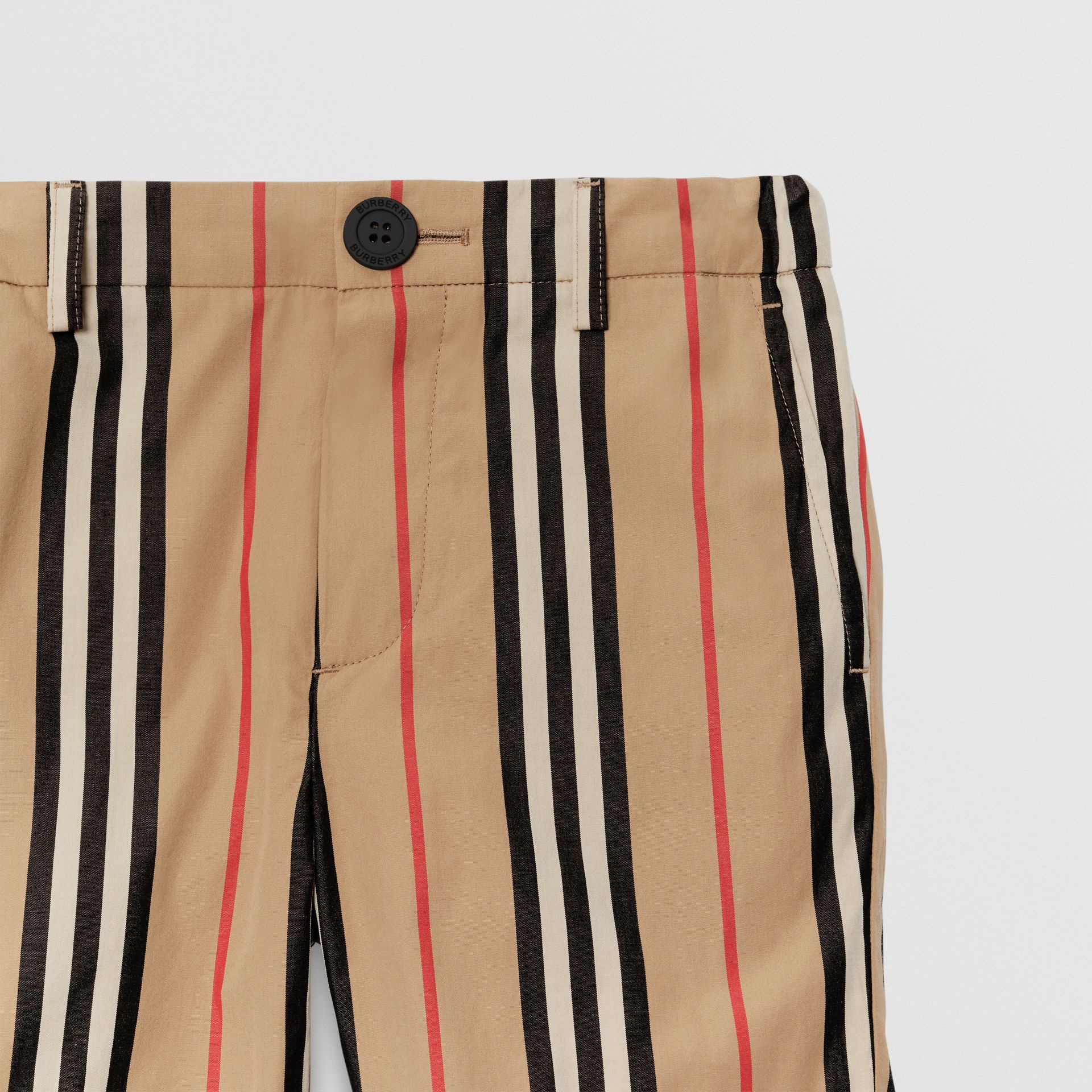 Icon Stripe Cotton Chino Shorts in Archive Beige | Burberry - gallery image 4