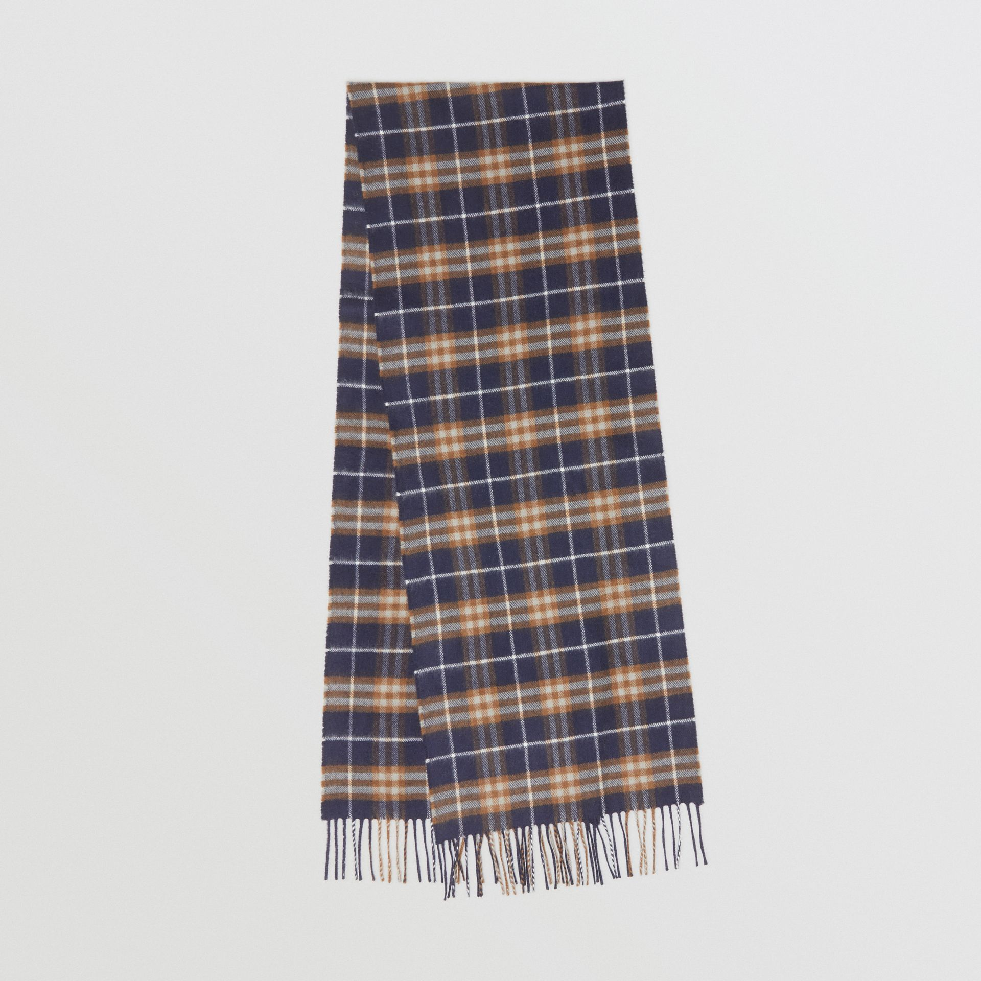 The Classic Vintage Check Cashmere Scarf in Dark Sapphire | Burberry Australia - gallery image 0