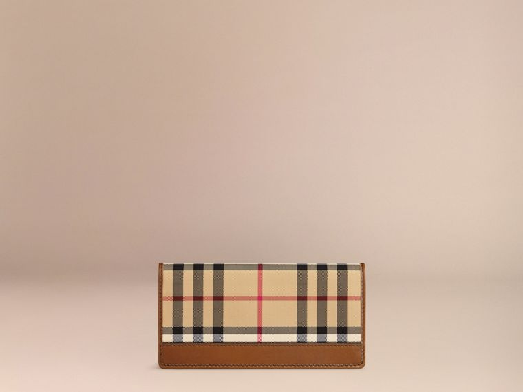 Horseferry Check Continental Wallet Tan - cell image 2