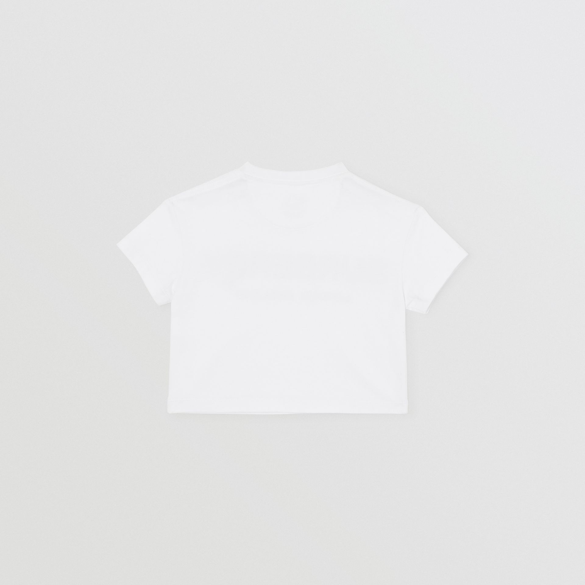 Logo Print Cotton T-shirt in White - Children | Burberry Australia - gallery image 3