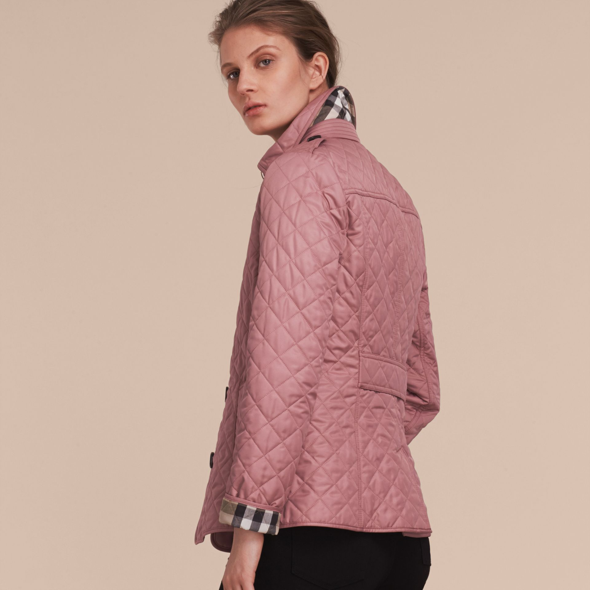 Diamond Quilted Jacket in Vintage Rose - gallery image 3