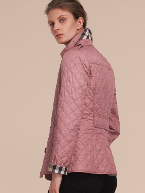 Diamond Quilted Jacket in Vintage Rose - cell image 2